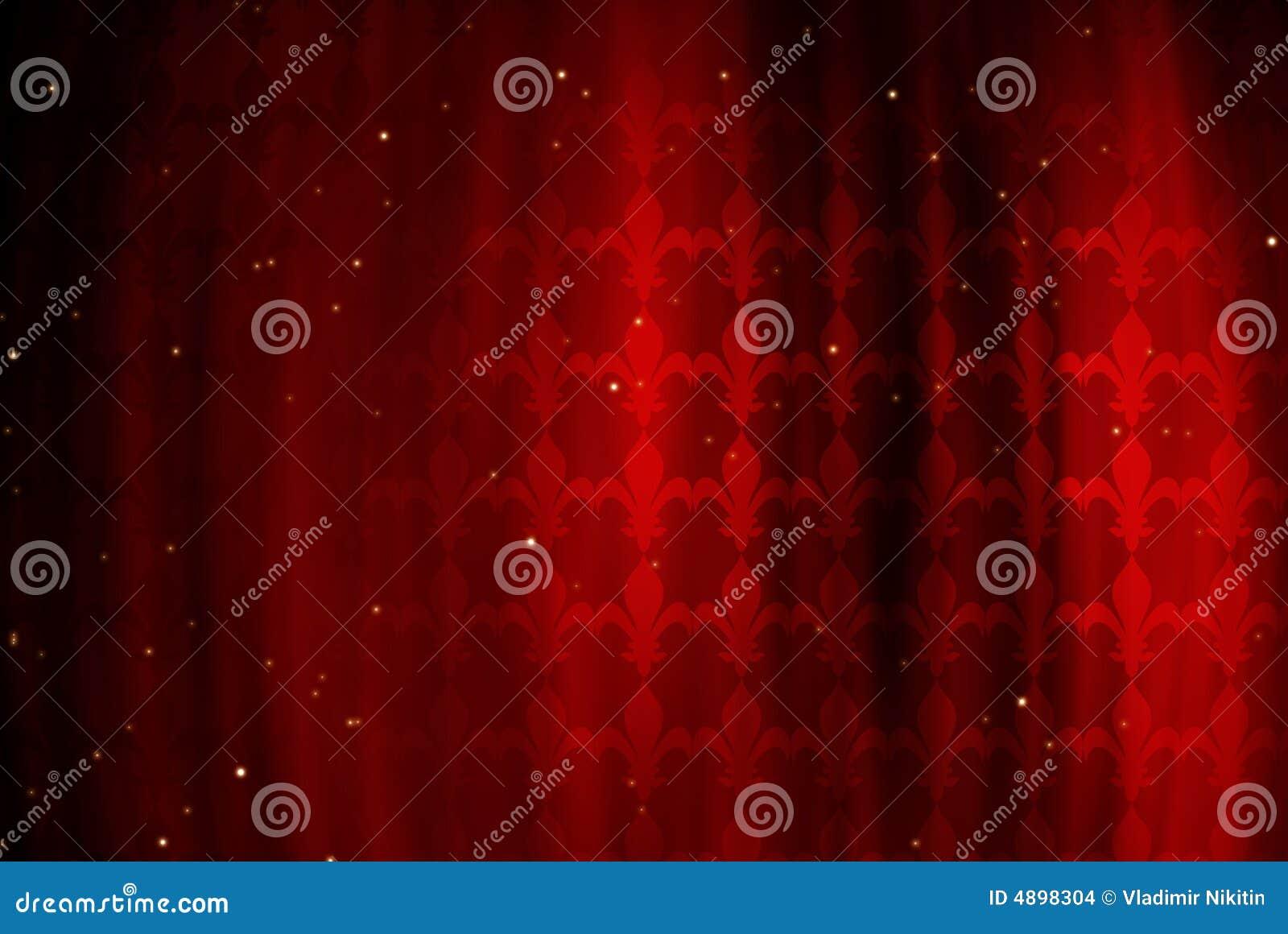 Priorità bassa rossa con la figura di un giglio reale
