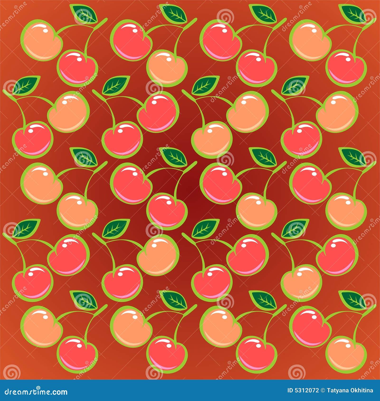 Download Priorità Bassa Rossa Della Ciliegia Illustrazione Vettoriale - Illustrazione di sugoso, divertimento: 5312072