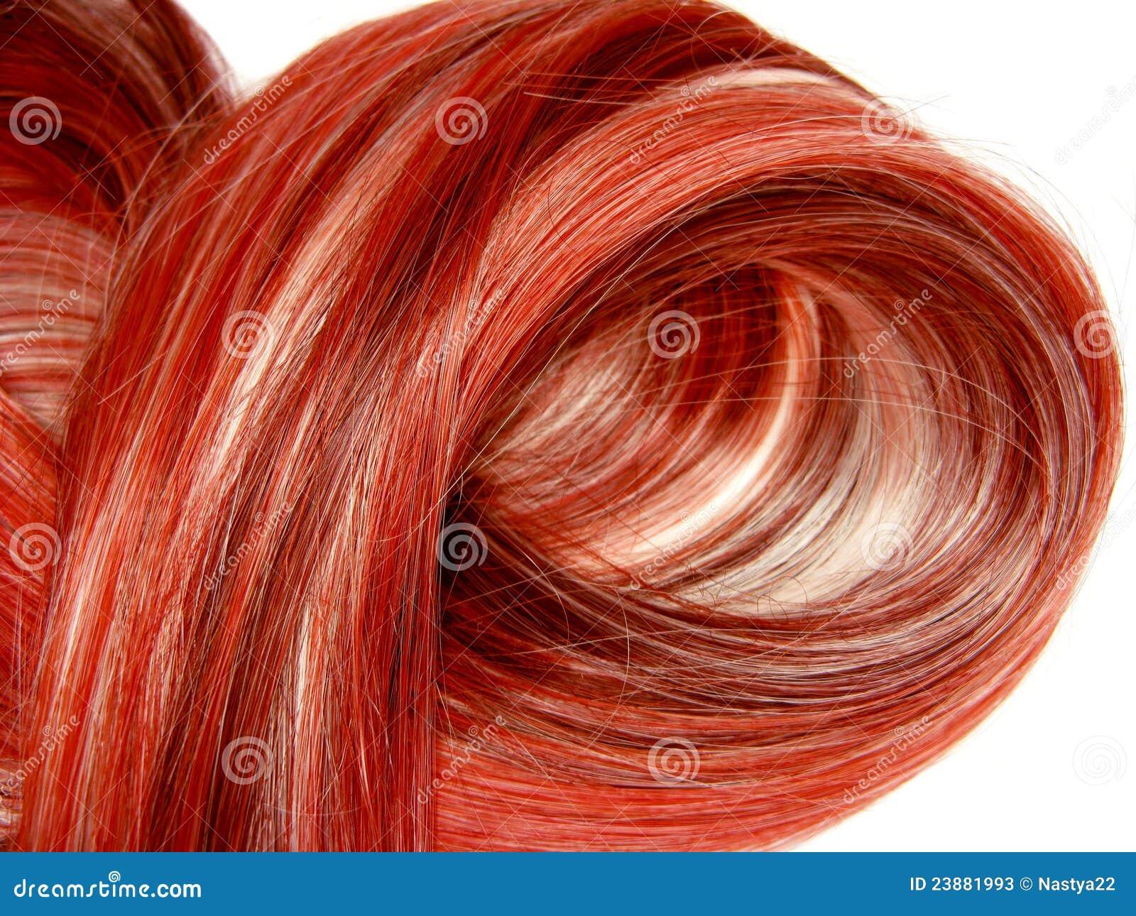 Priorità bassa rossa di struttura dei capelli di punto culminante