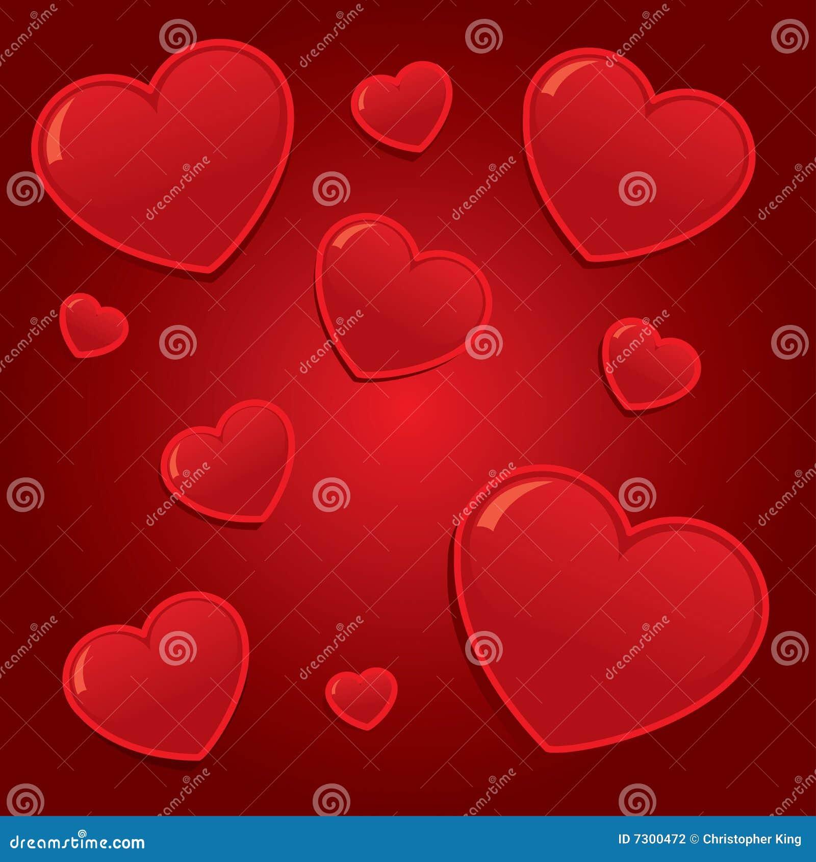 Priorità bassa semplice dei cuori dei biglietti di S. Valentino