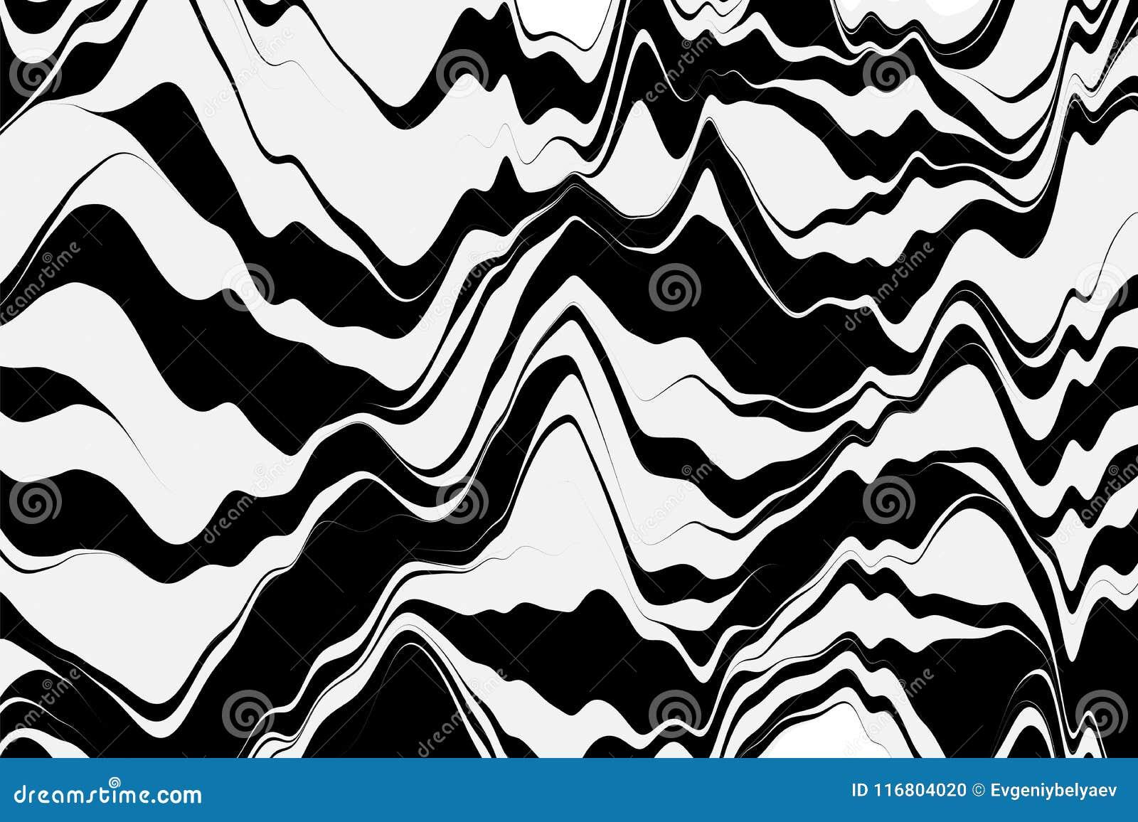 Priorità bassa a strisce di vettore Fondo geometrico con le linee curve Grafici di moto Illustrazione di vettore