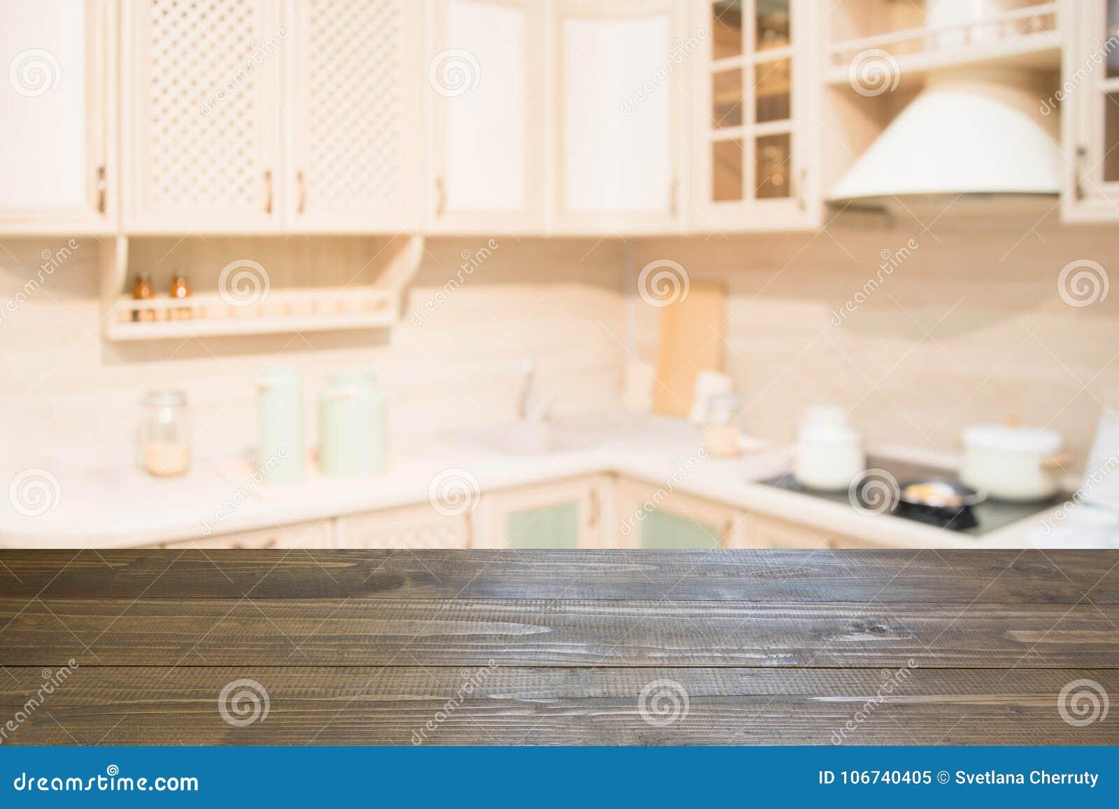 Ripiani In Legno Per Tavoli : Priorità bassa vaga ripiano del tavolo di legno vuoto e cucina
