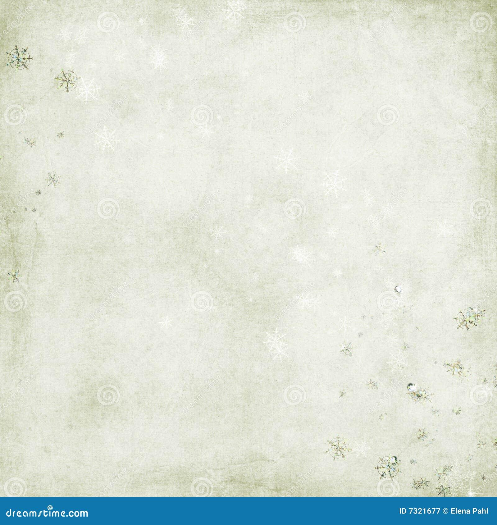 Priorità bassa verde con i fiocchi di neve