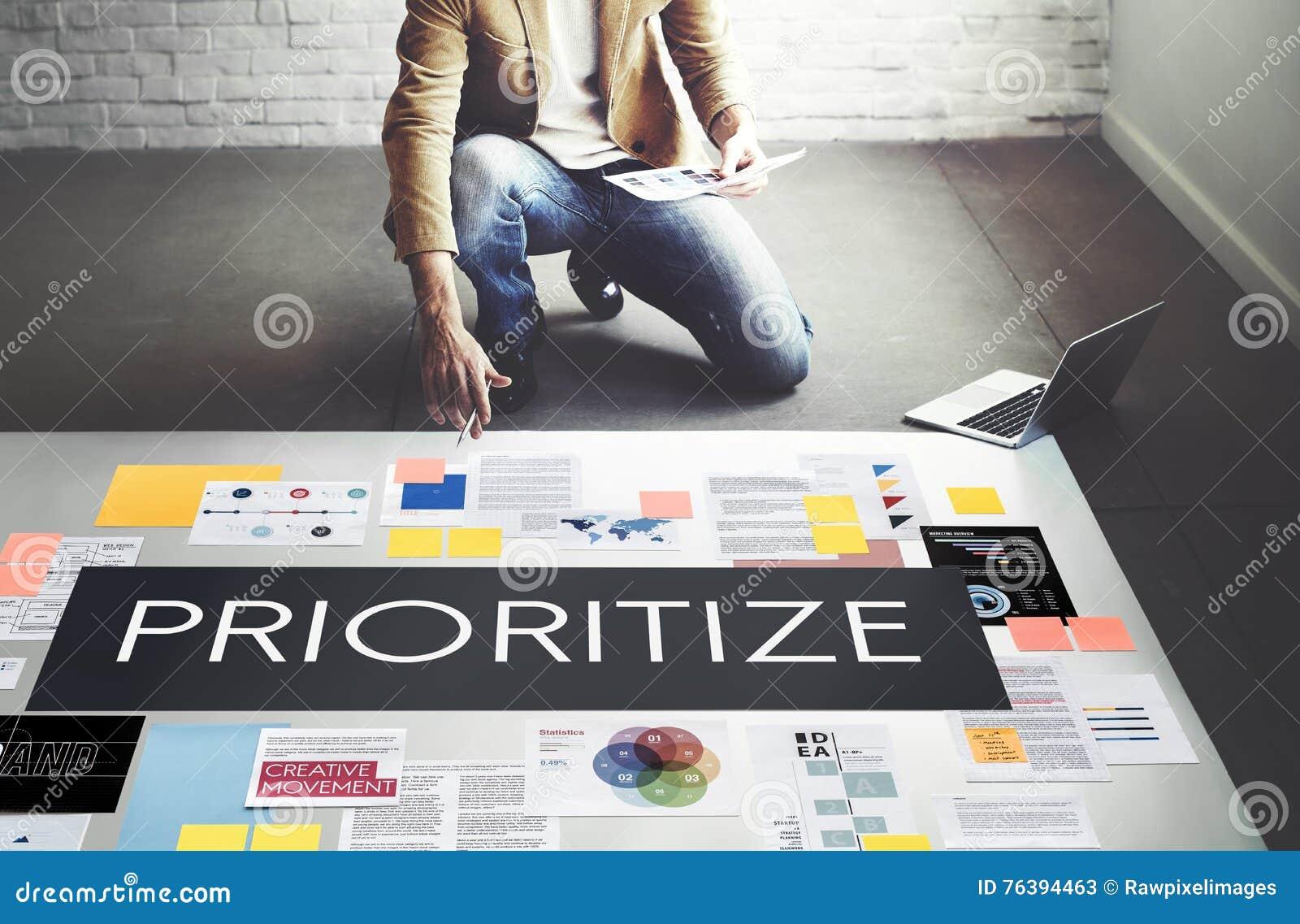 Prioritera betonar viktigt uppgiftsbegrepp för effektivitet