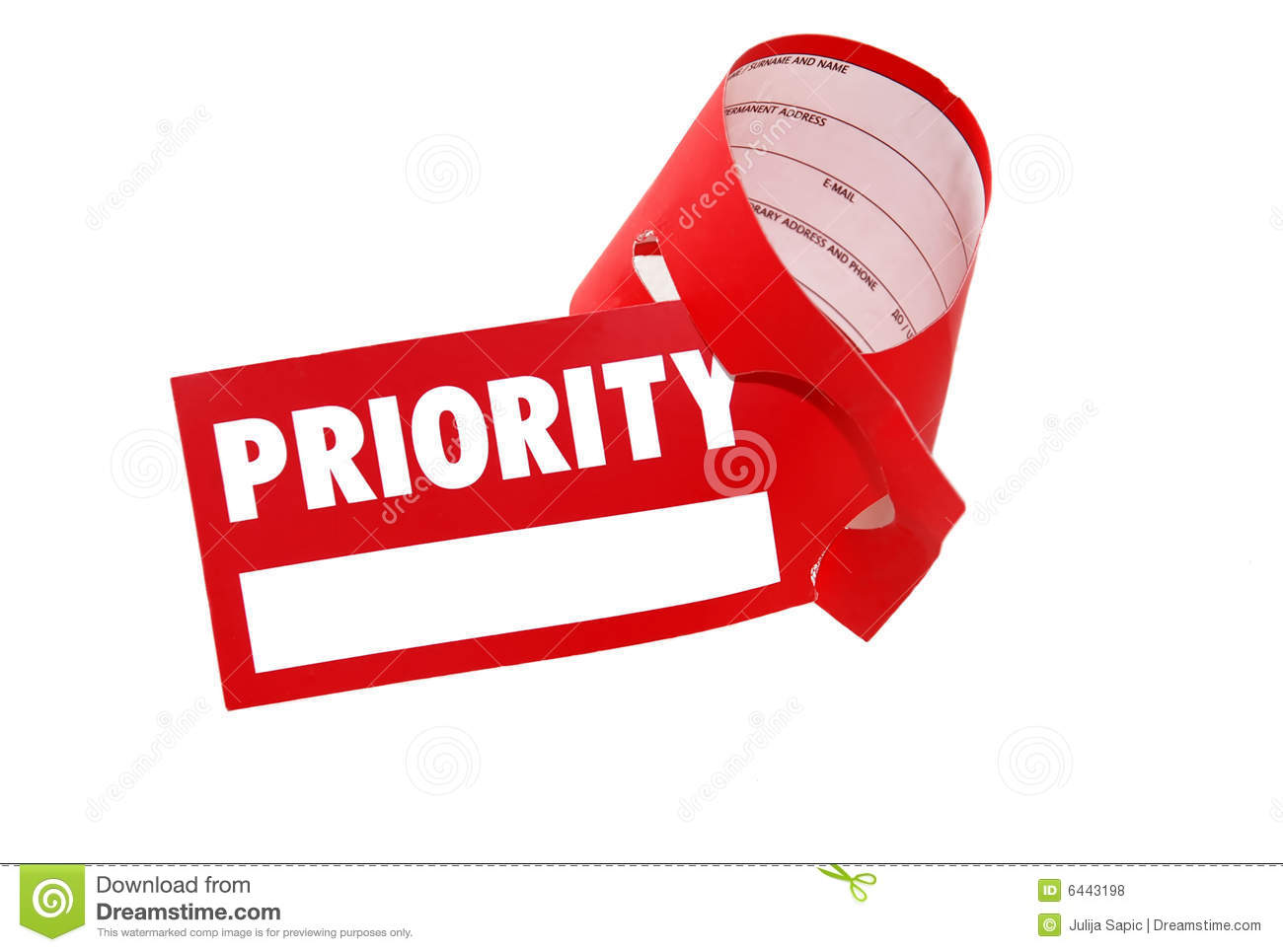 Royalty Free Stock Photos: Priority label luggage - business class ...