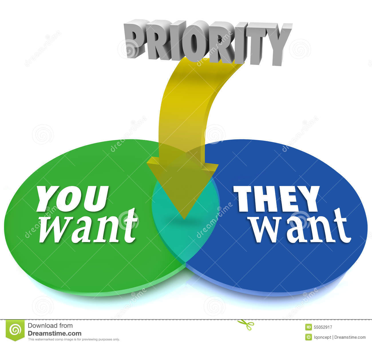 Priority You Vs They Want Venn Diagram Intersecting