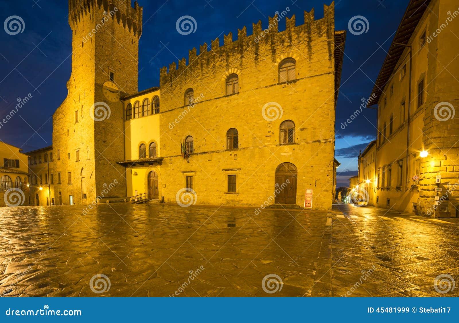 Priors夜阿雷佐托斯卡纳意大利欧洲的宫殿