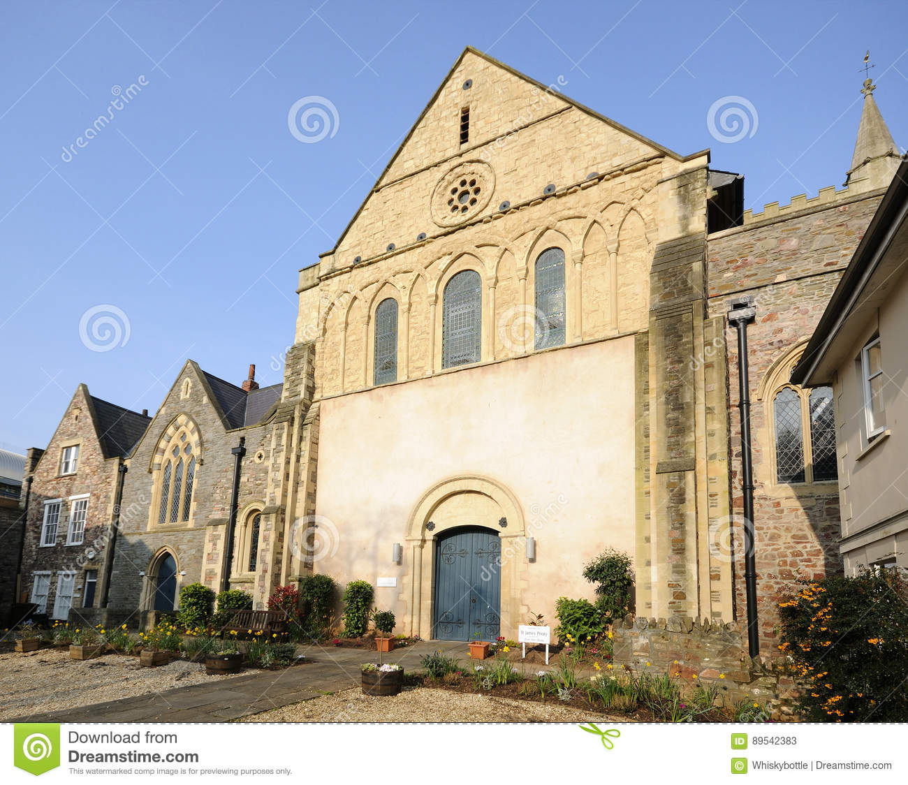 Priory Church of St James stock image  Image of england