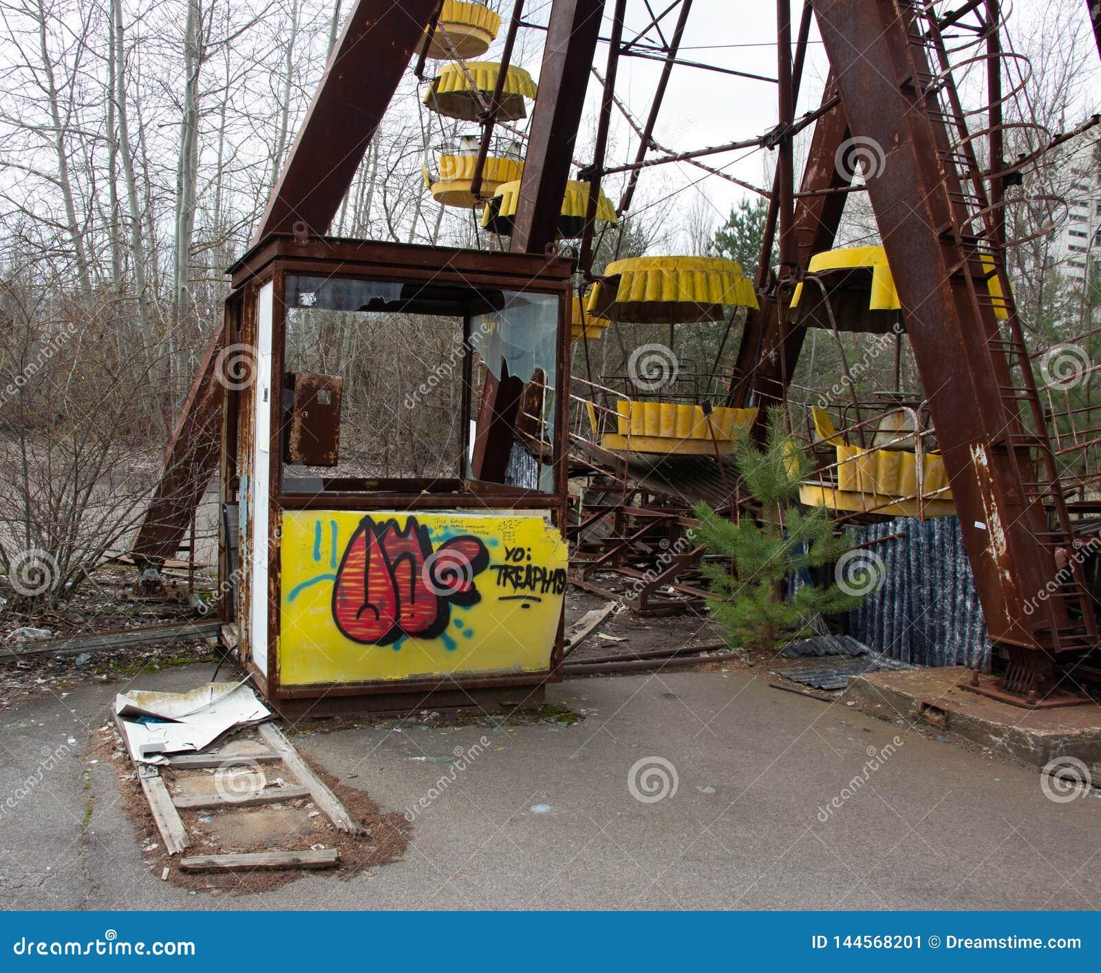 Ghost Town Pripyat In Chernobyl, Ferris Wheel Editorial