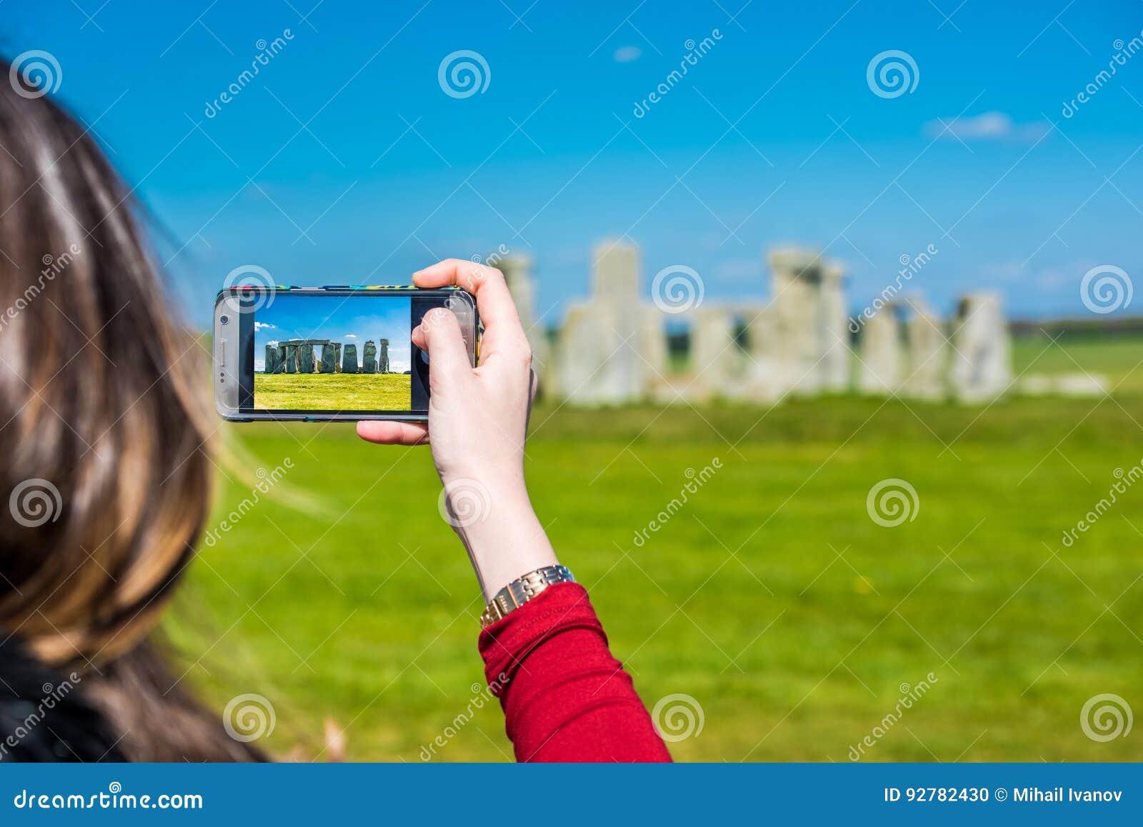 Prise d une photo de Stonehenge