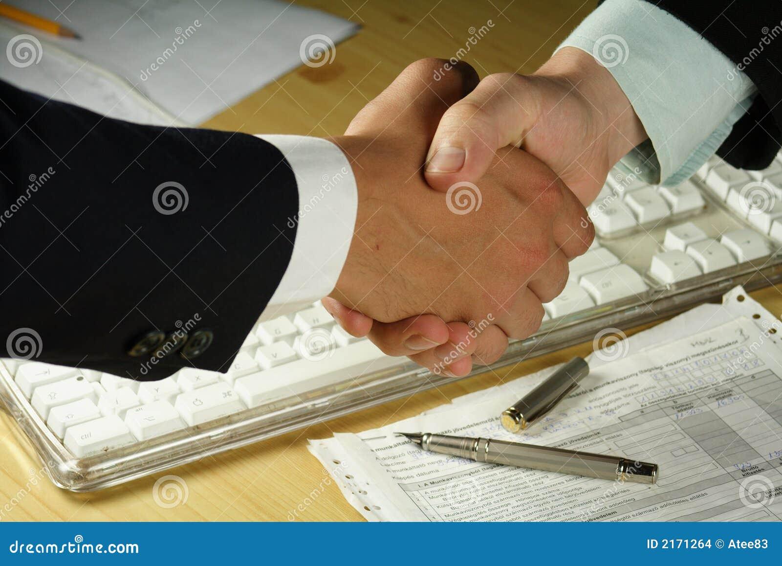Prise de contact d affaires