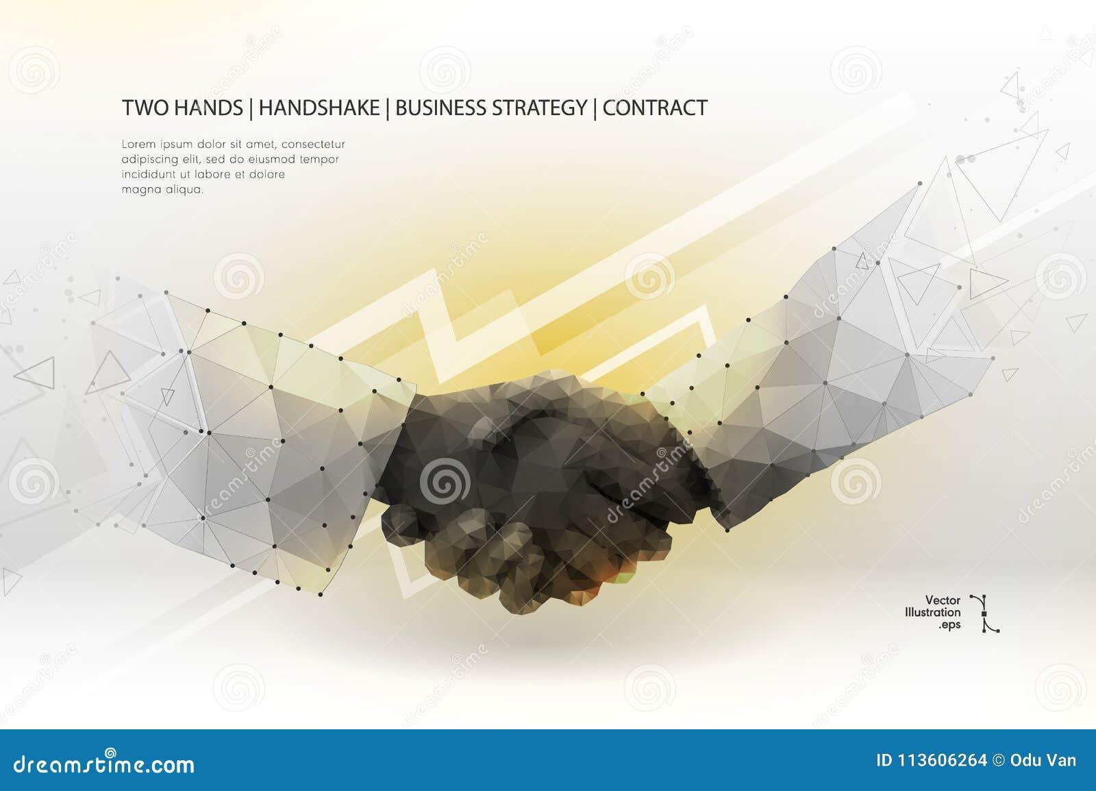 Prise de contact de deux mains