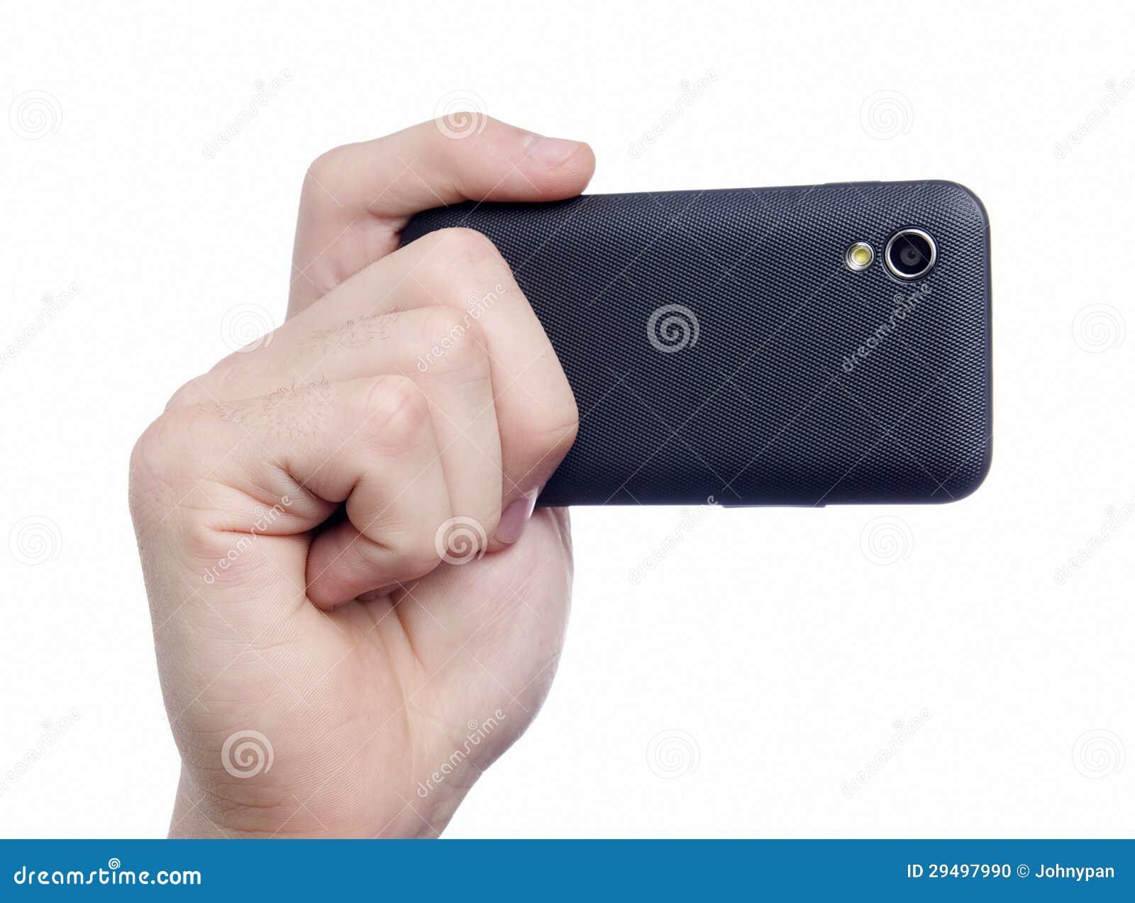 Prise de la photo avec le téléphone intelligent