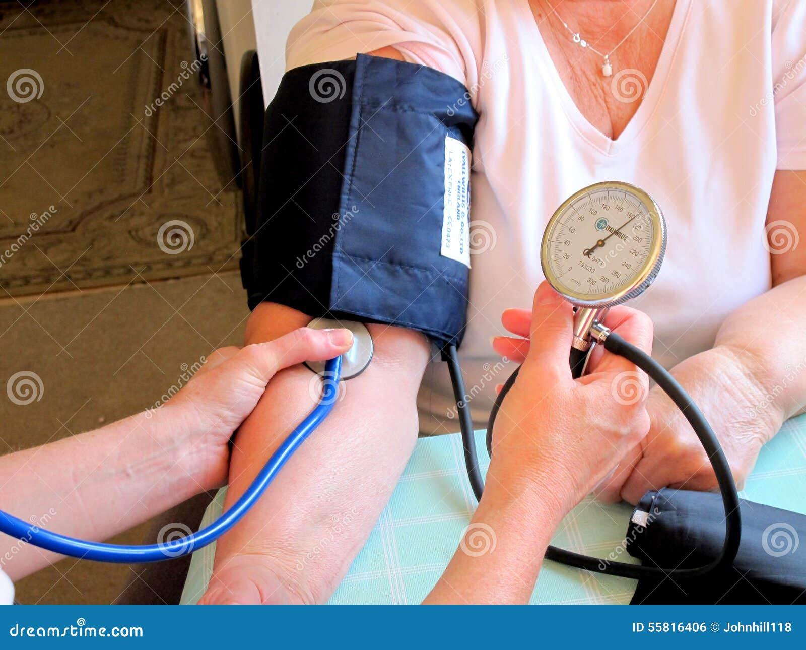 Prise de la tension artérielle