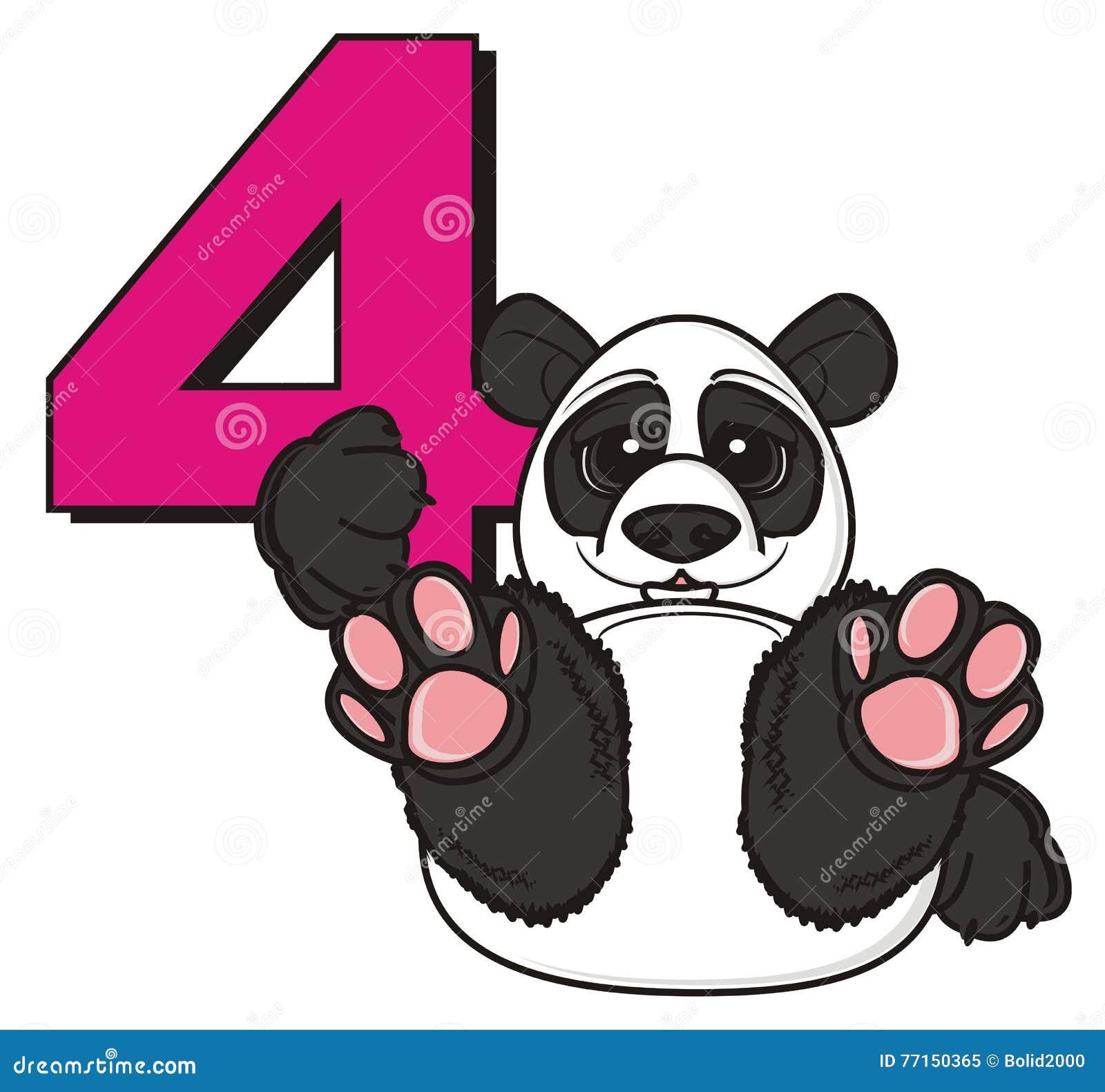 Prise de panda un numéro quatre