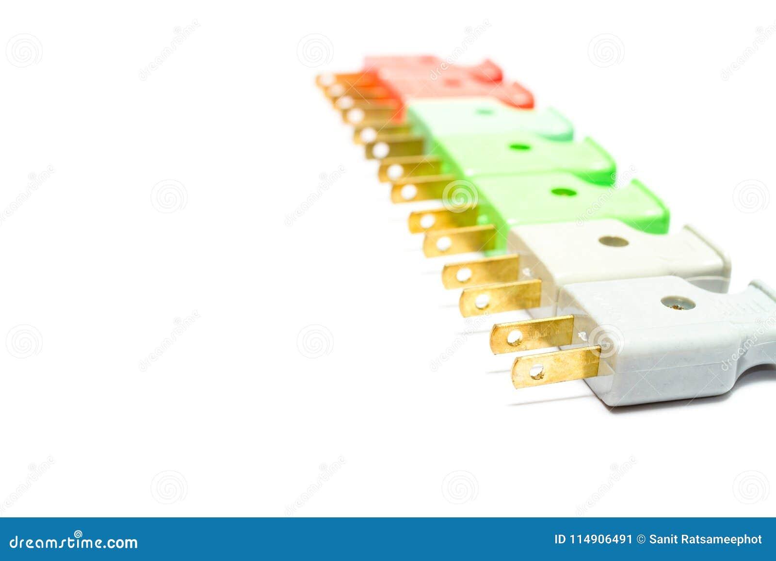 Prises masculines colorées