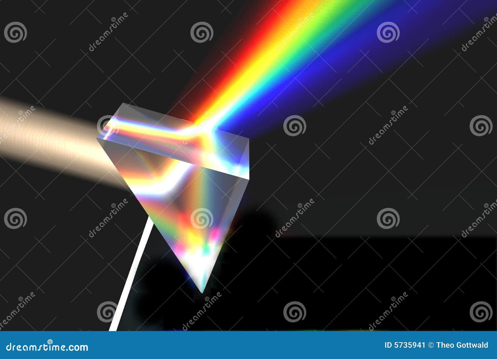 Prism on black
