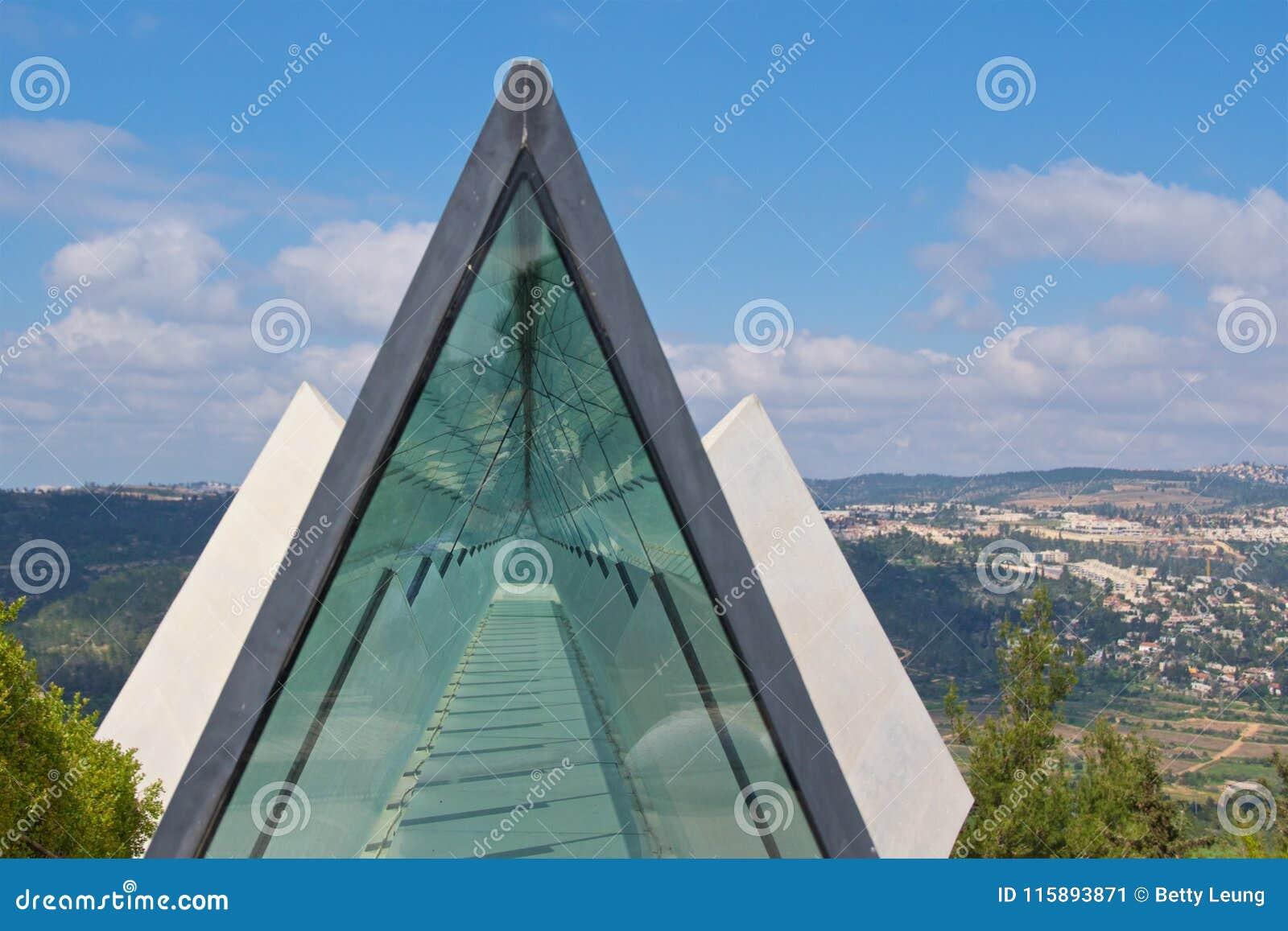 Prism skylight in Yad Vashem Museum in Jerusalem, Israel
