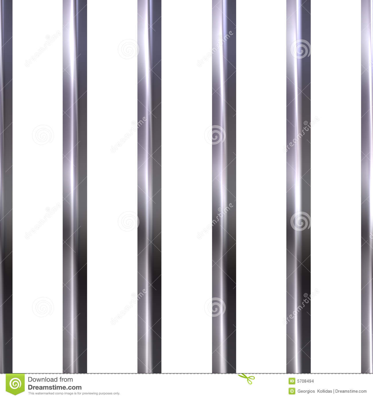 Jail Bars Clipart Prison bars isolated in white.