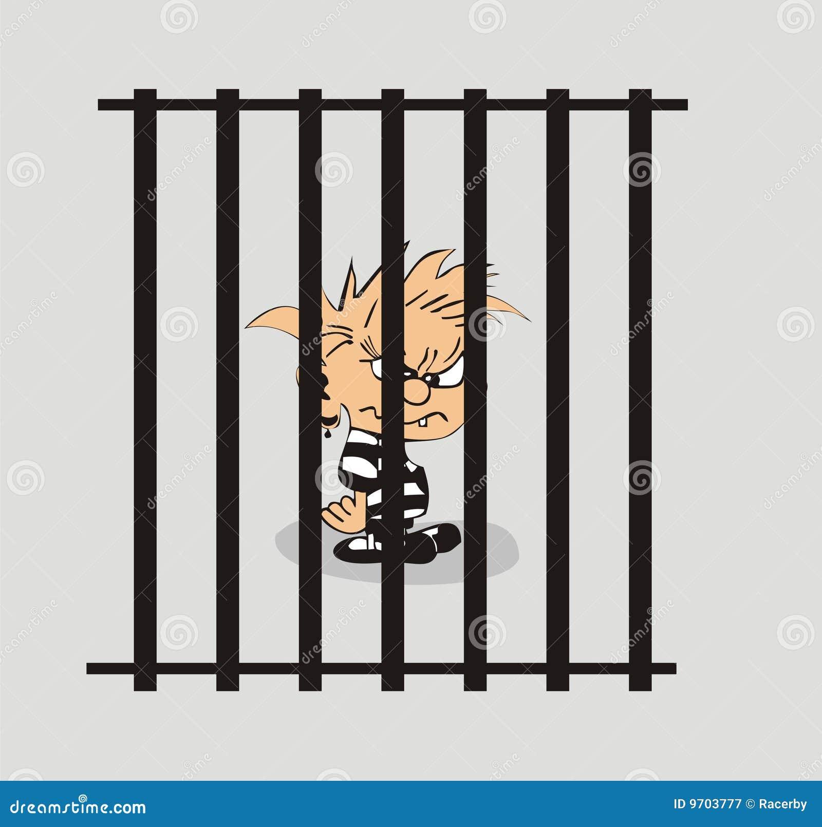 Prison cartoon royalty free stock photography image 9703777 for Barreaux de fenetre