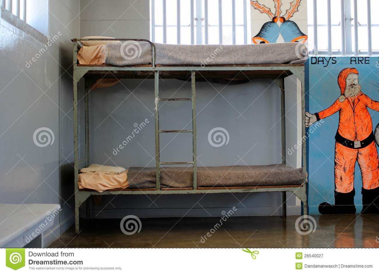 Prison Cell Of Robben Island Prison Stock Image - Image of ...