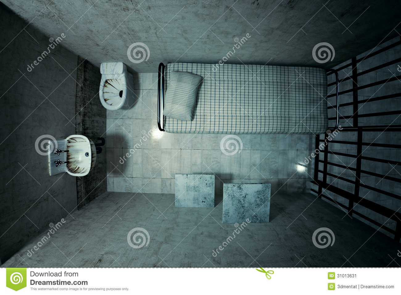 Prison Cell Stock Image Image