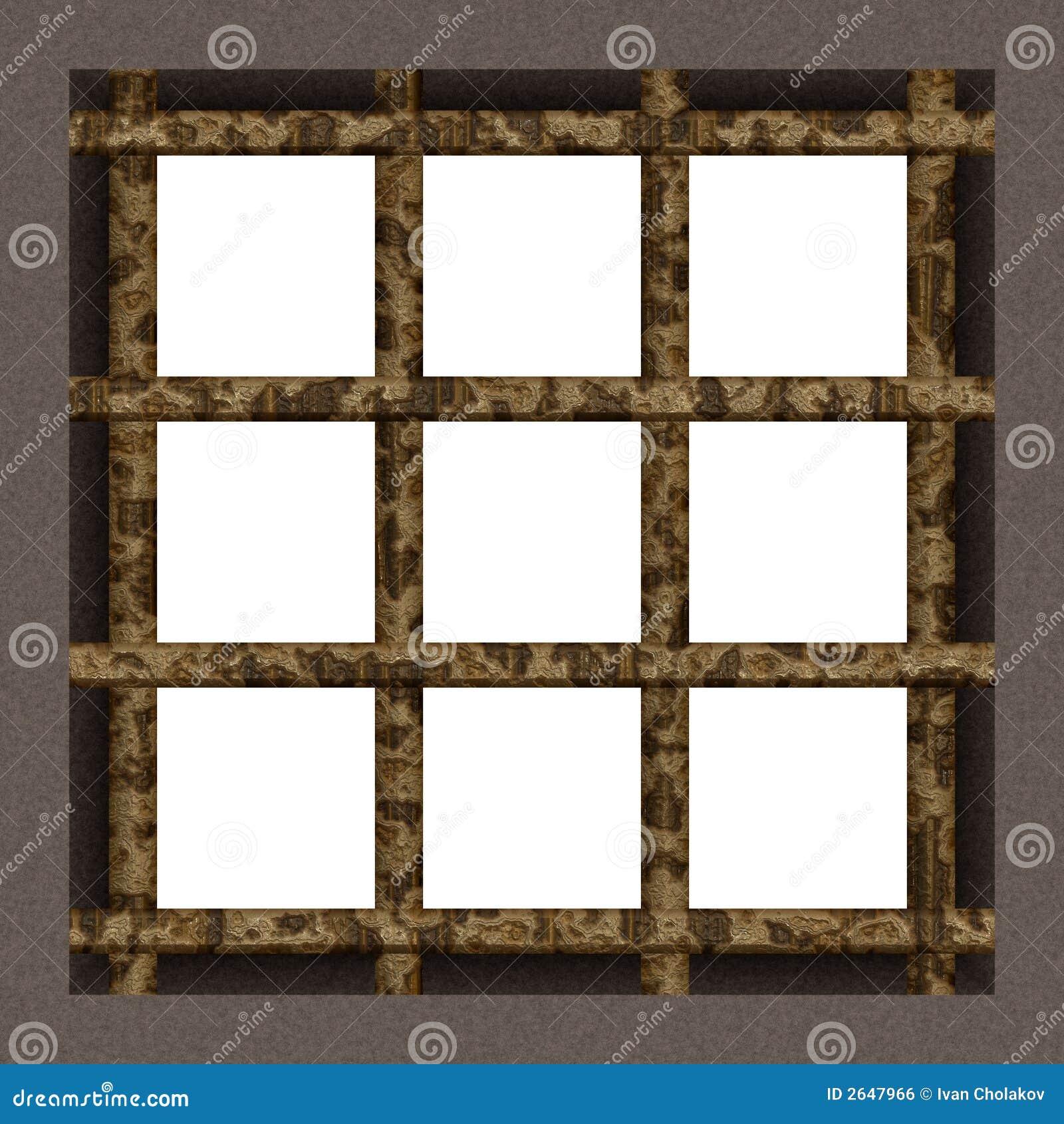 Prison cell window stock illustration. Illustration of iron - 2647966