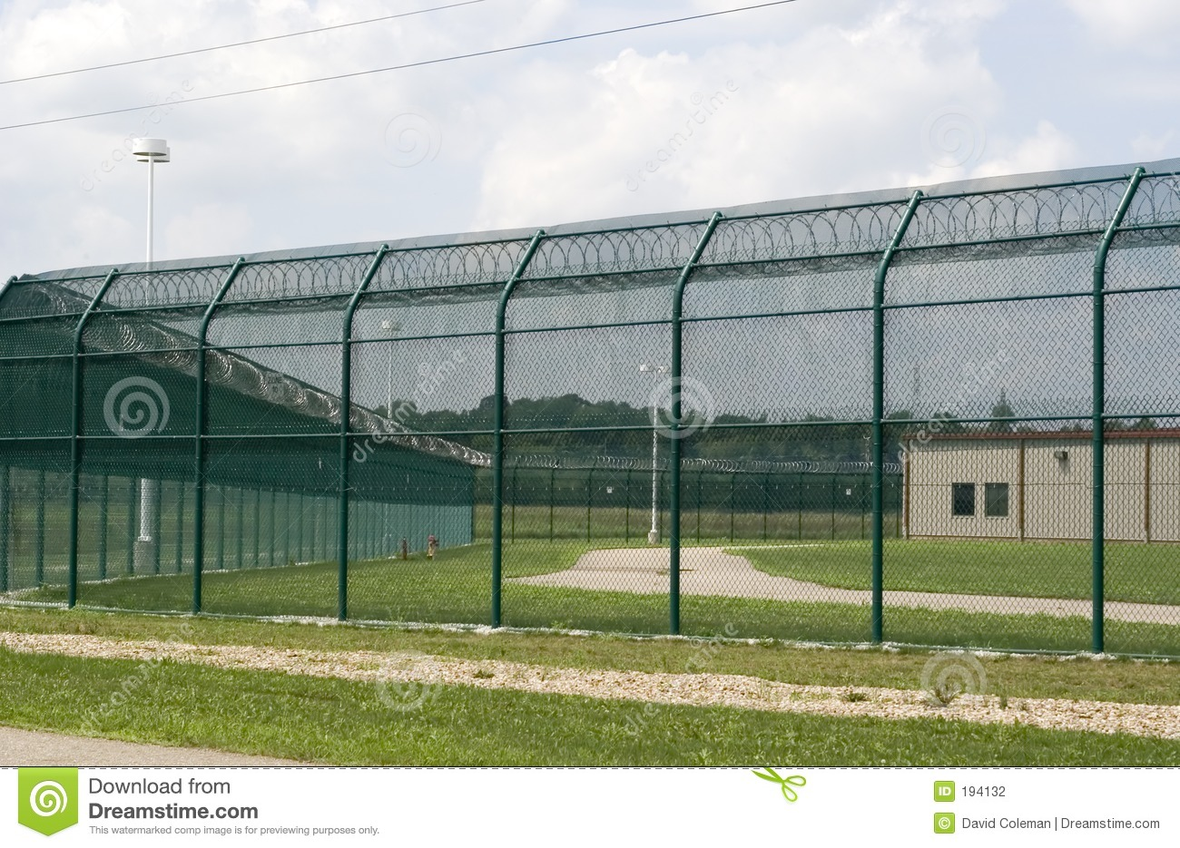 Prison Exercise Yard.