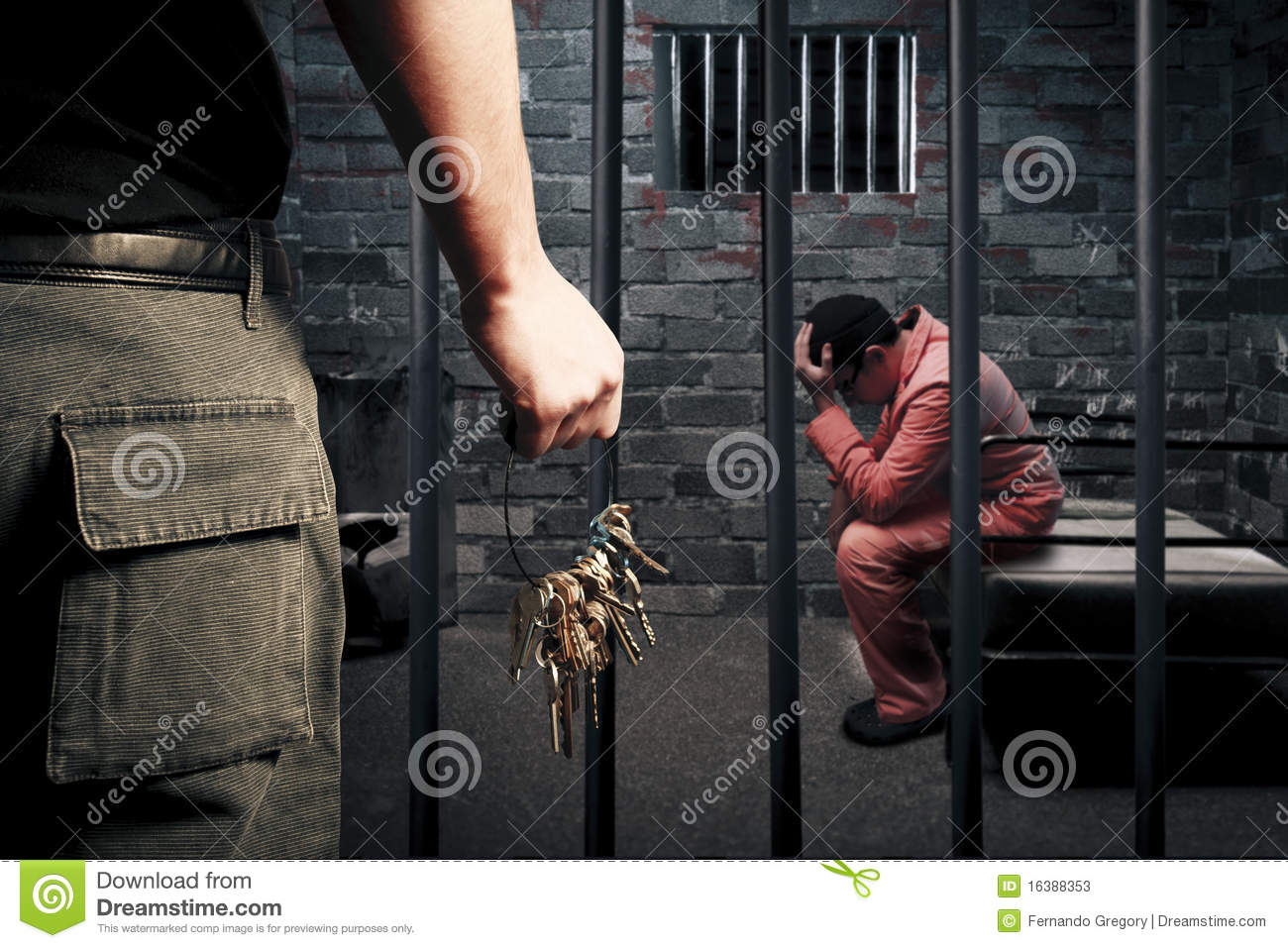 Prison Guard With Keys Stock Photos Image 16388353