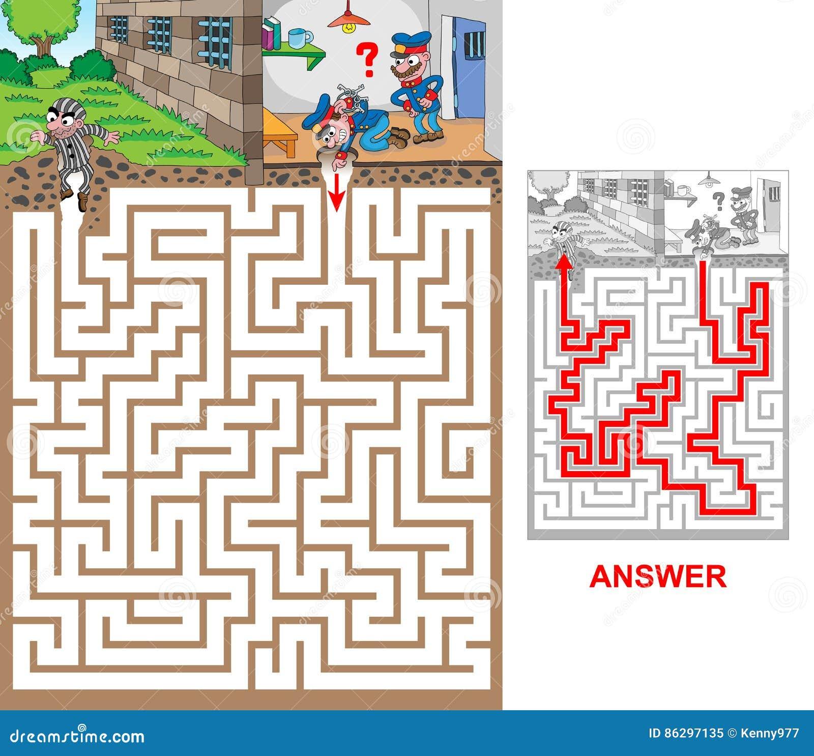 Prison stock vector  Illustration of danger, escape, game - 86297135