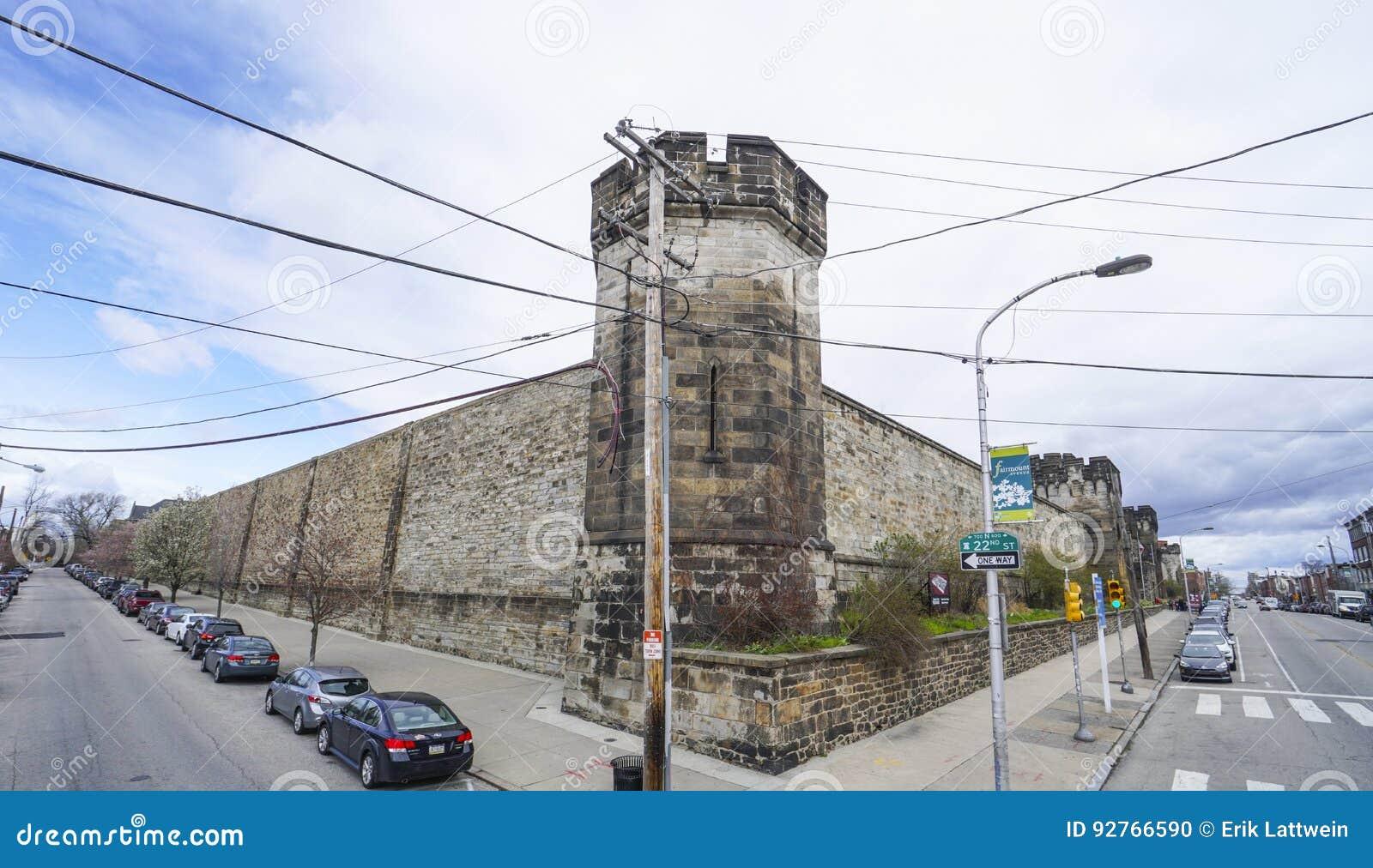 Prison orientale d état à Philadelphie - à PHILADELPHIE - en PENNSYLVANIE - 6 avril 2017