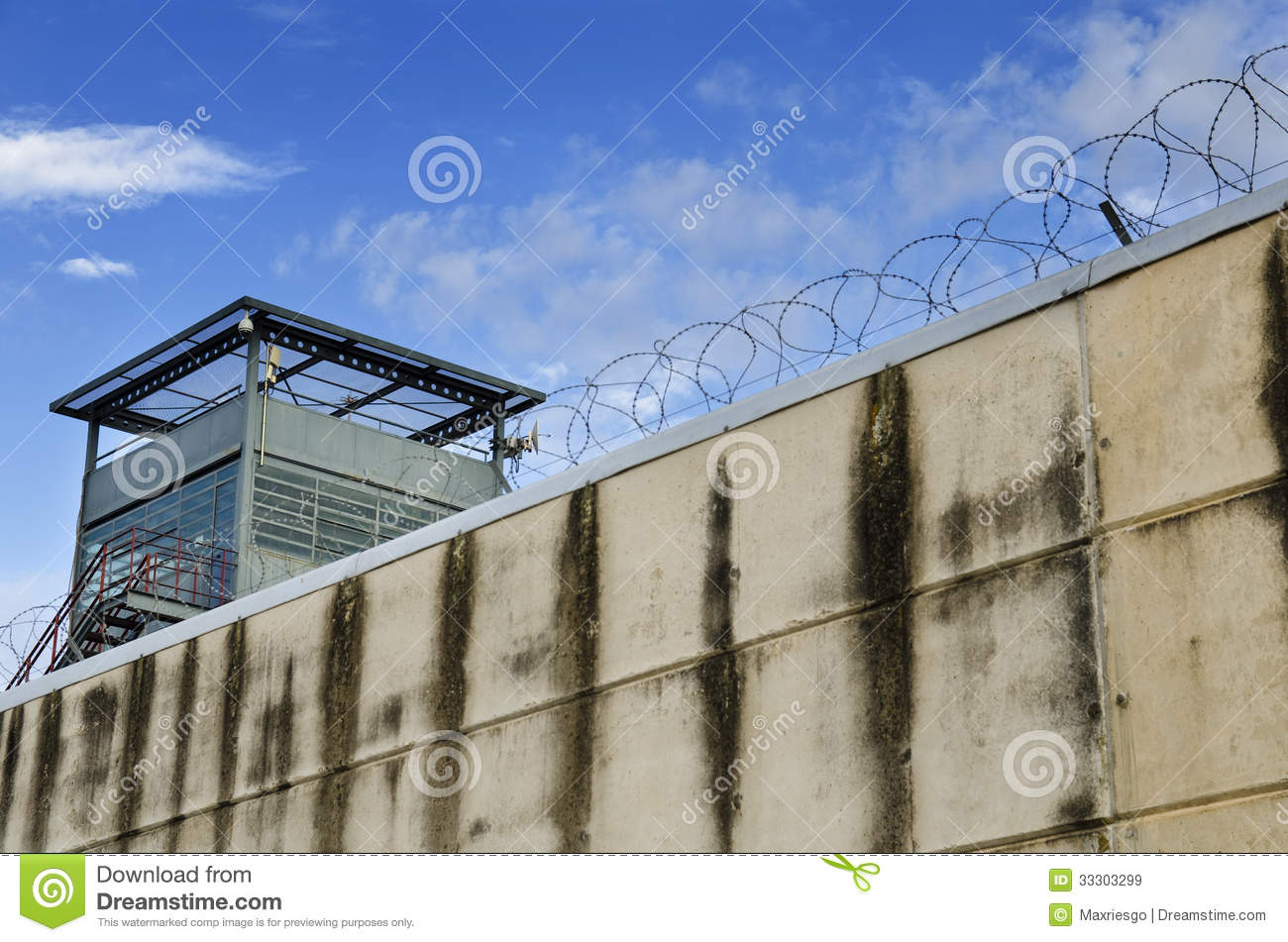 Penetrations in prison walls