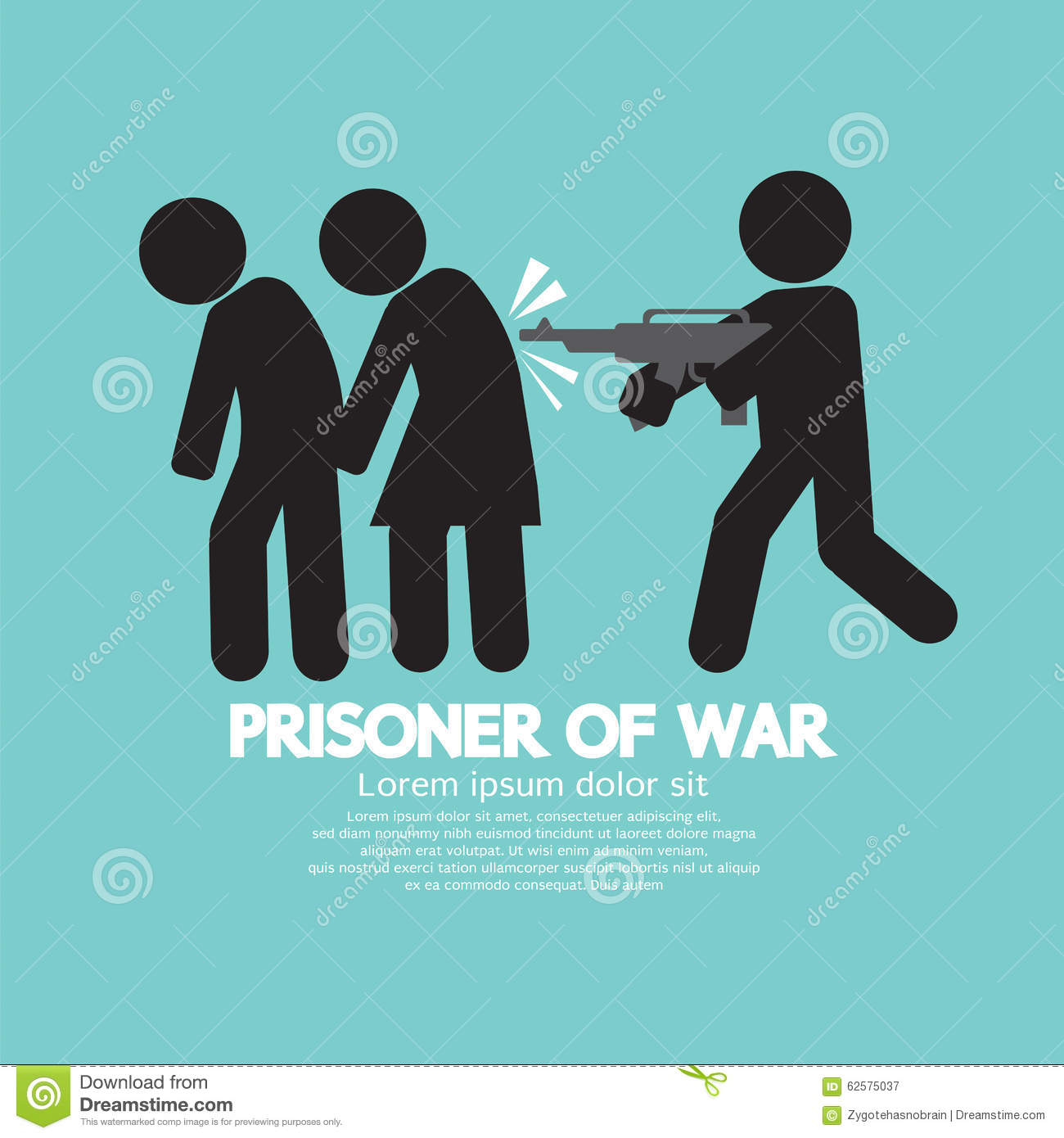 Prisoner Of War Symbol Stock Vector Illustration Of People 62575037