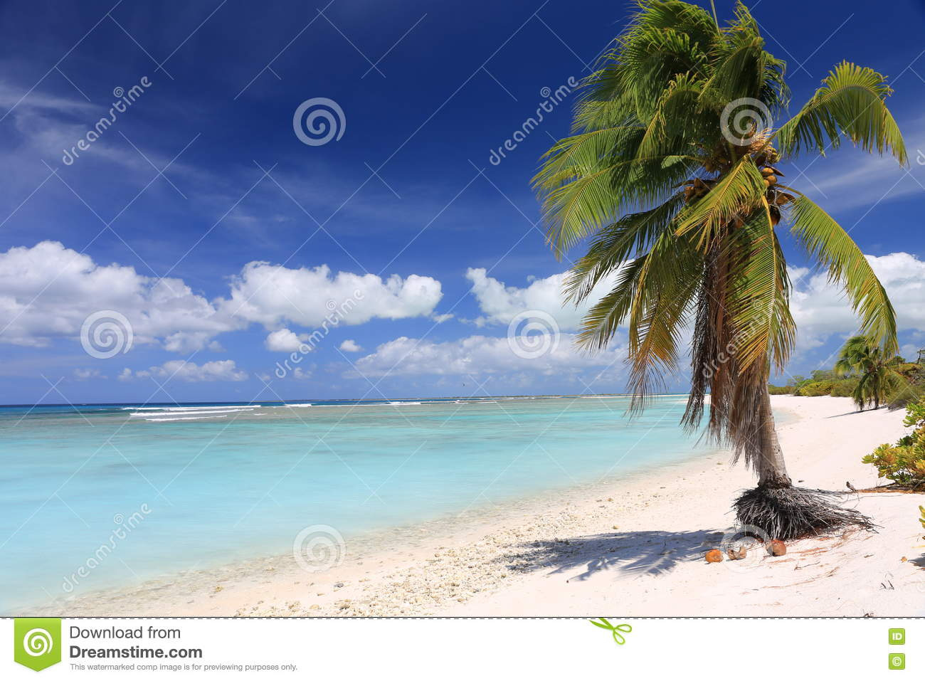Pristine Tropical Beach On Christmas Island, Kiribati Stock Photo ...