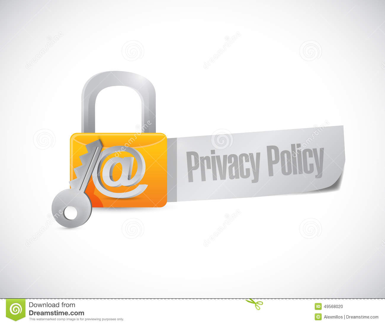 Privacy Policy: Privacy Policy Lock Sign Stock Illustration. Image Of