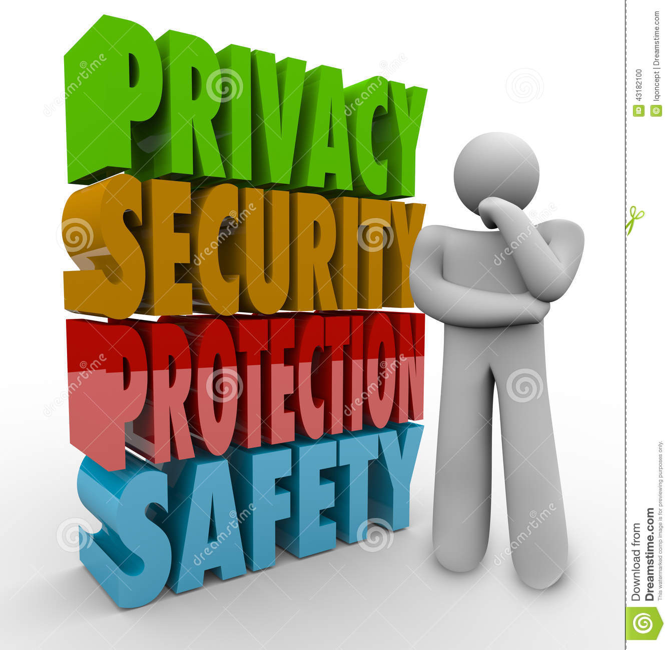 Privacy Security Protection Safety Thinker 3d Words Stock Illustration ...: www.dreamstime.com/stock-illustration-privacy-security-protection...