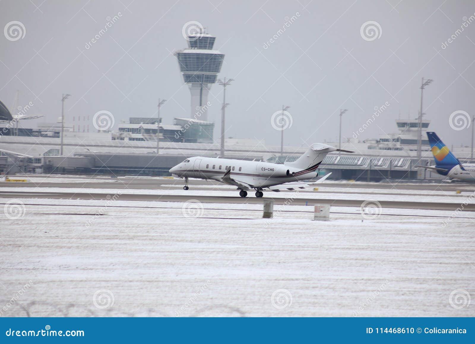 Privat stråle som tar av, Munich flygplats MUC