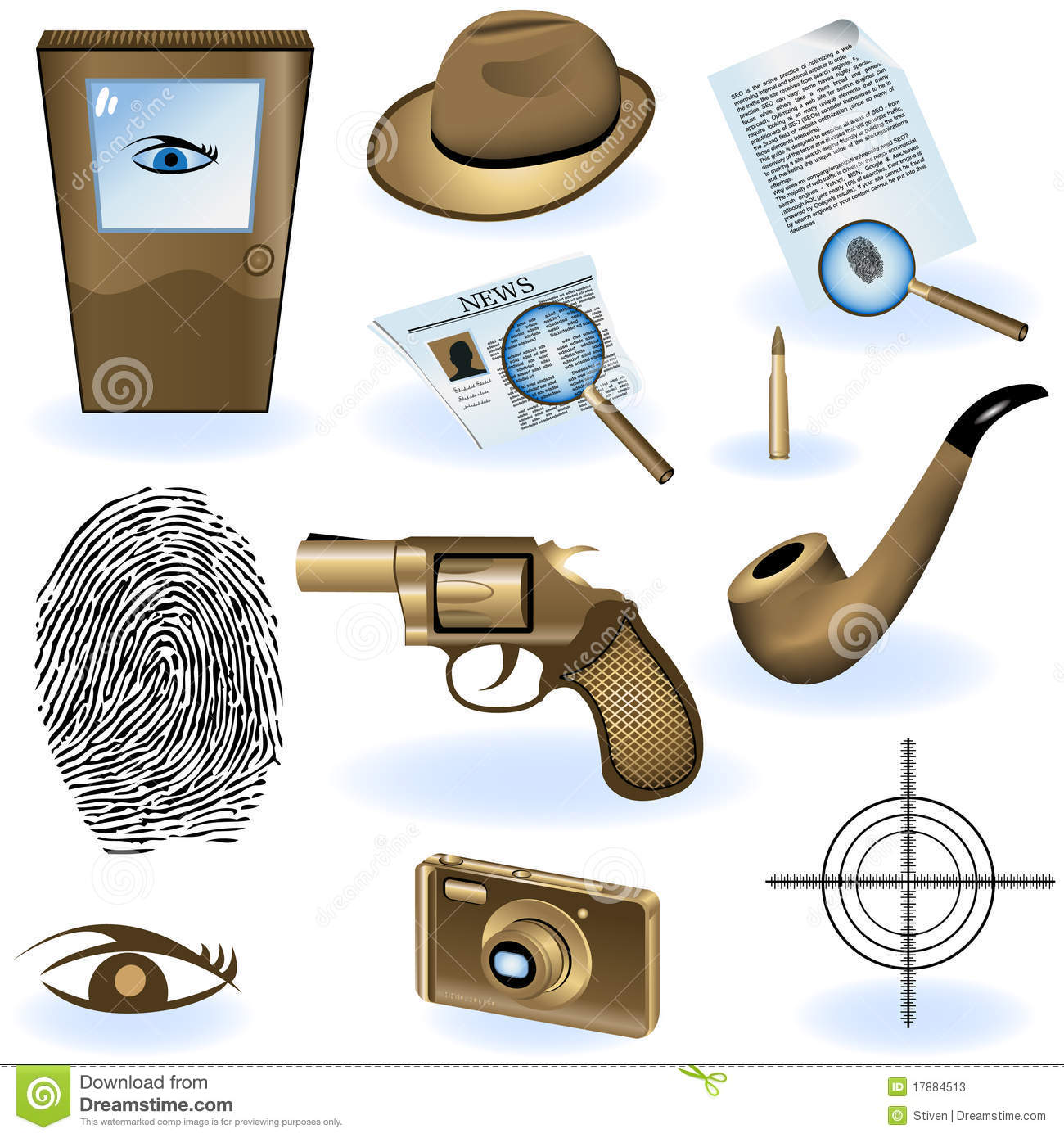 Private Detective Collection Stock Photos - Image: 17884513