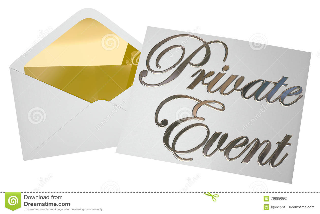 private event invitation party envelope opening stock illustration