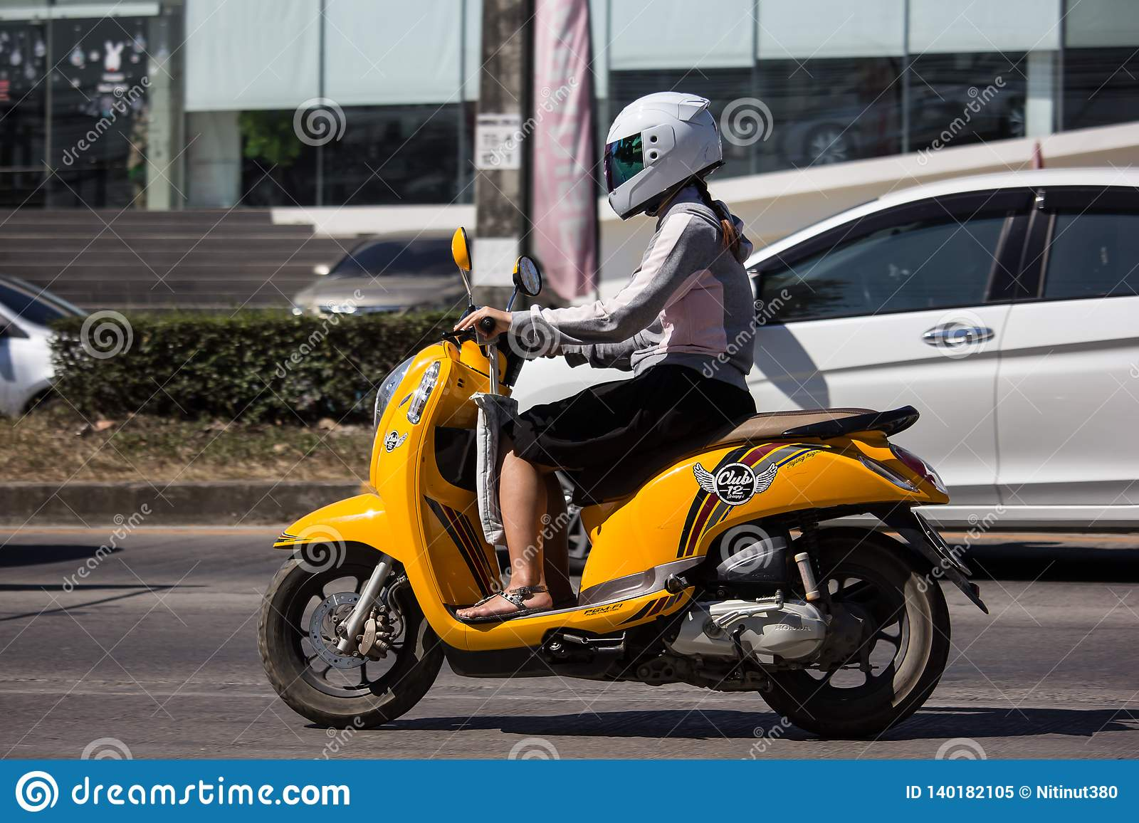 Private Honda Automatic Scooter Scoopy I Motorcycle Editorial Image