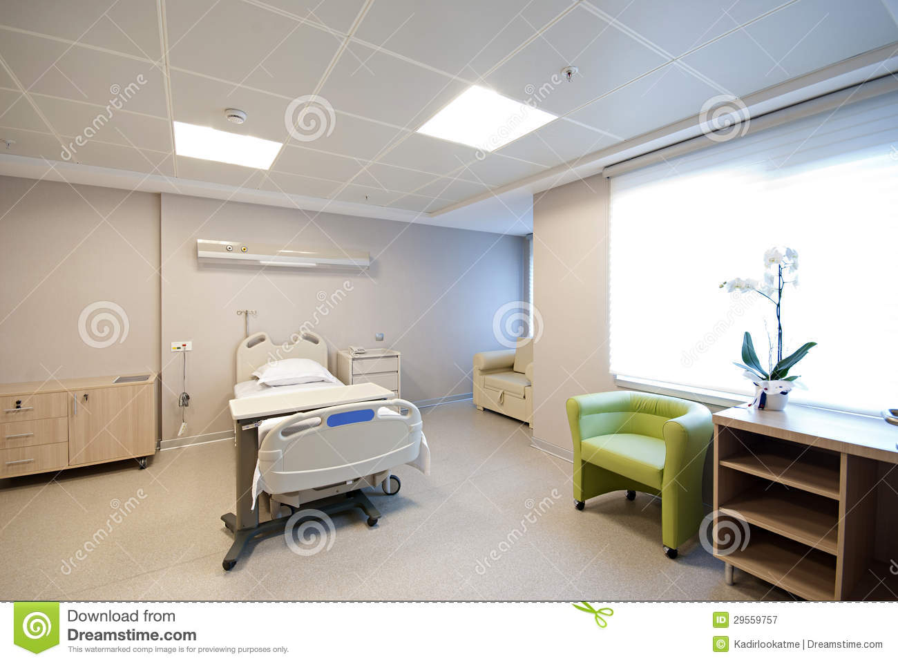 Private hospital room interior stock image image 29559757 for Room interior images