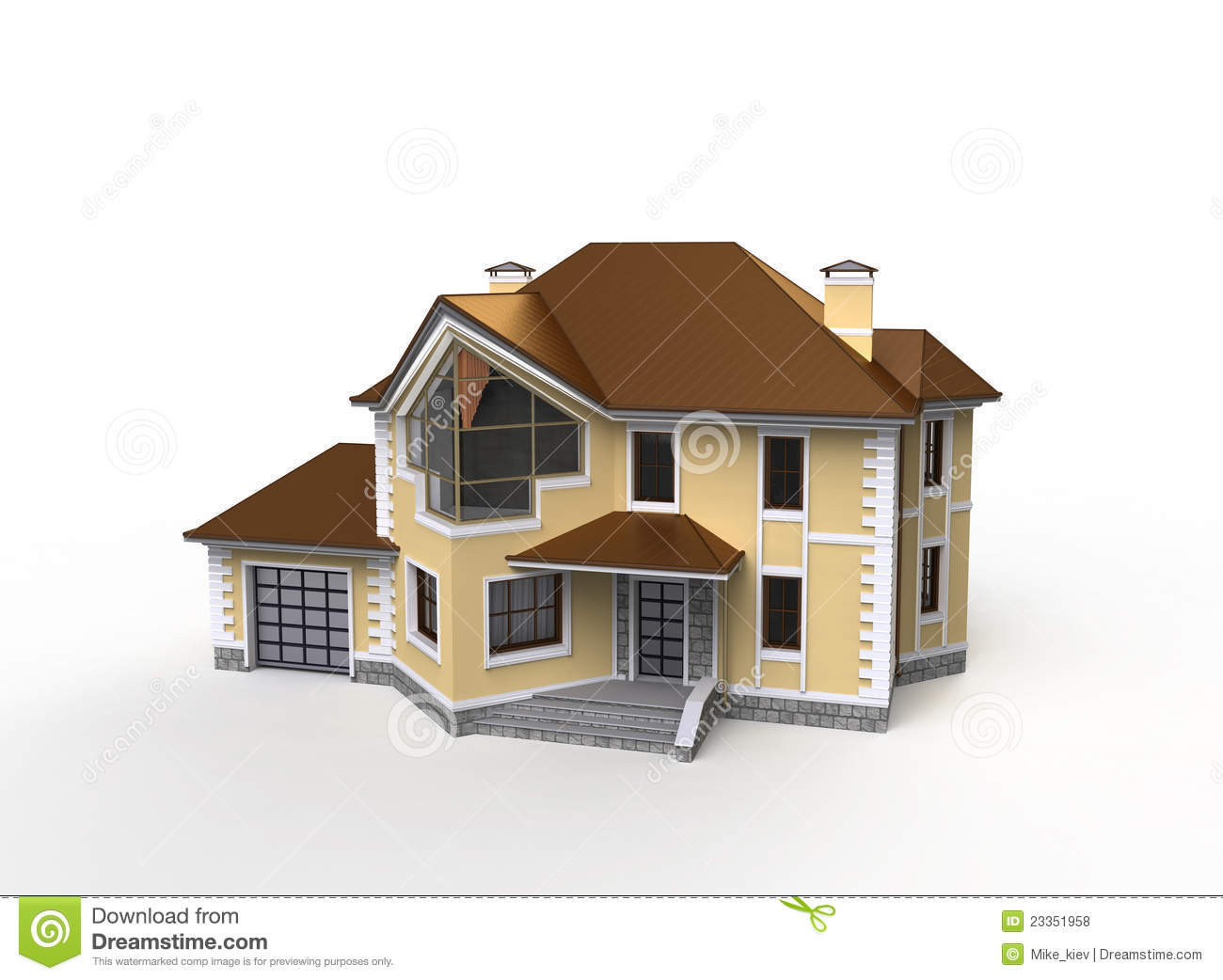 private house project stock illustration image of project