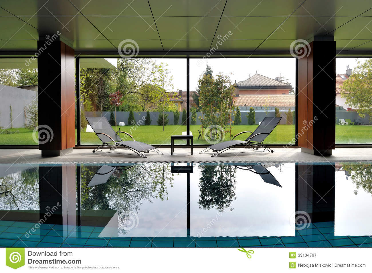 Private indoor swimming pool stock image image 33104797 for Private indoor swimming pools