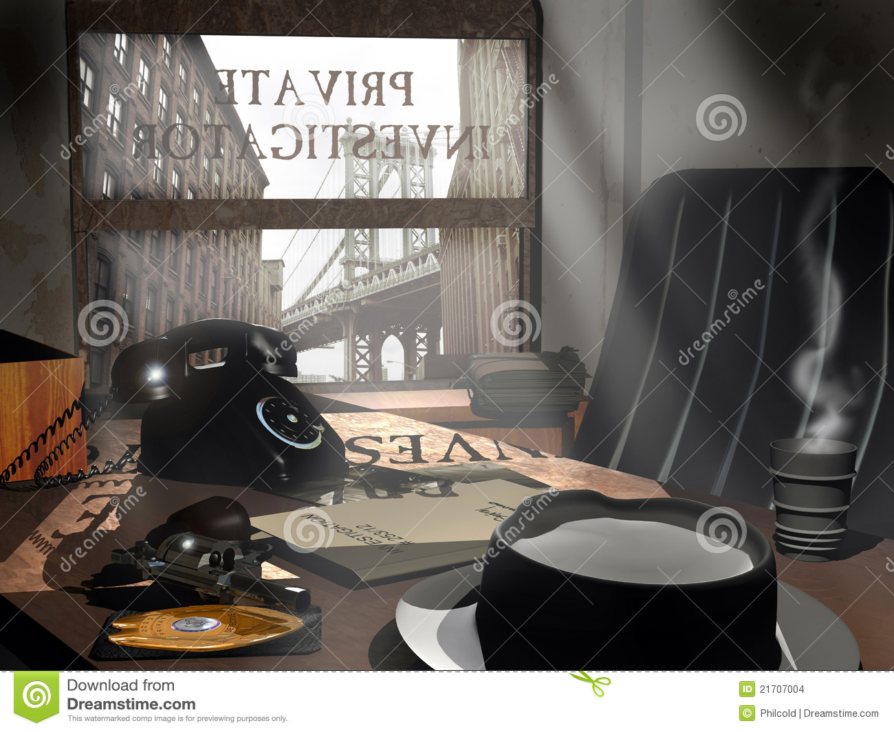 Private Investigator's Office Stock Images - Image: 21707004