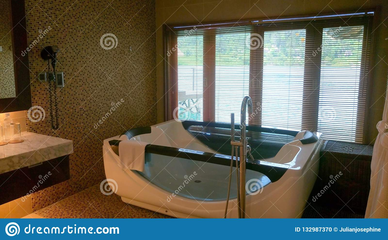 A private jacuzzi room for guest facilities.