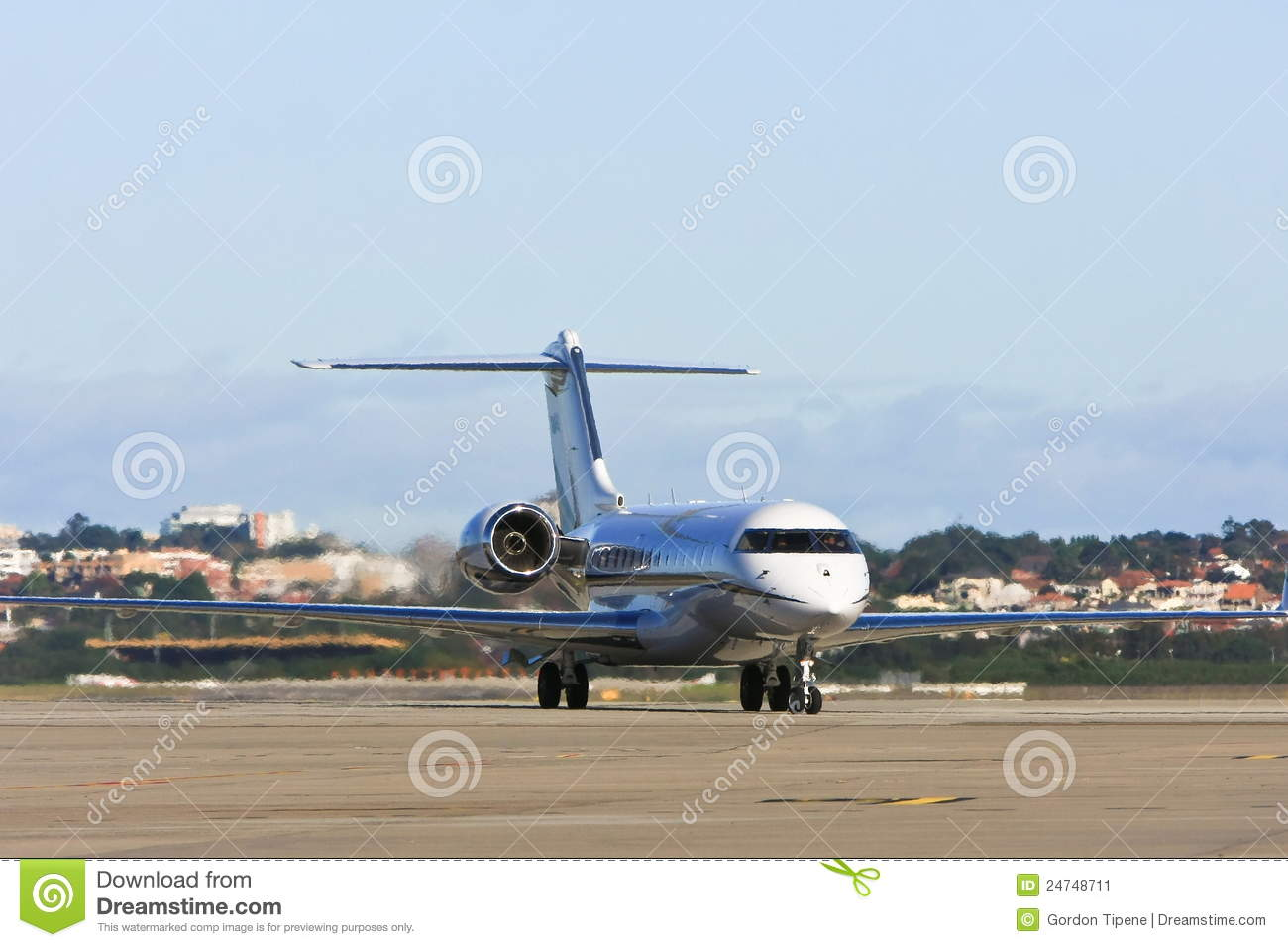 Private Jet Airliner On Tarmac Stock Image  Image 24748711