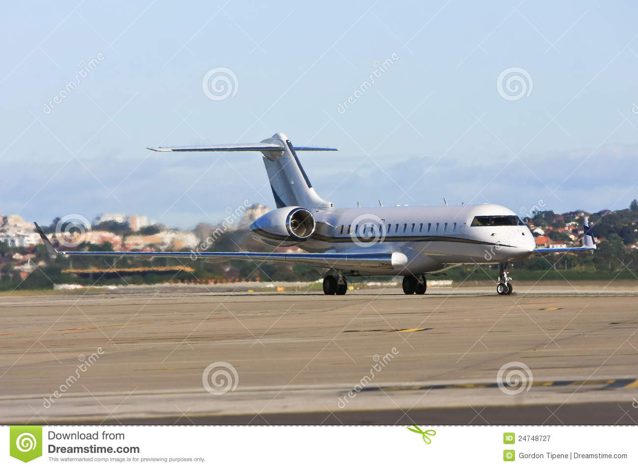 Private Jet Airliner On Tarmac Royalty Free Stock Photography  Image 24748727
