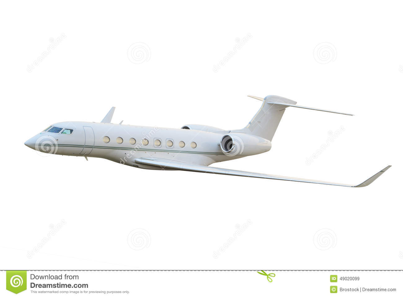 Private Jet Airplane Flying Stock Image - Image: 49020099