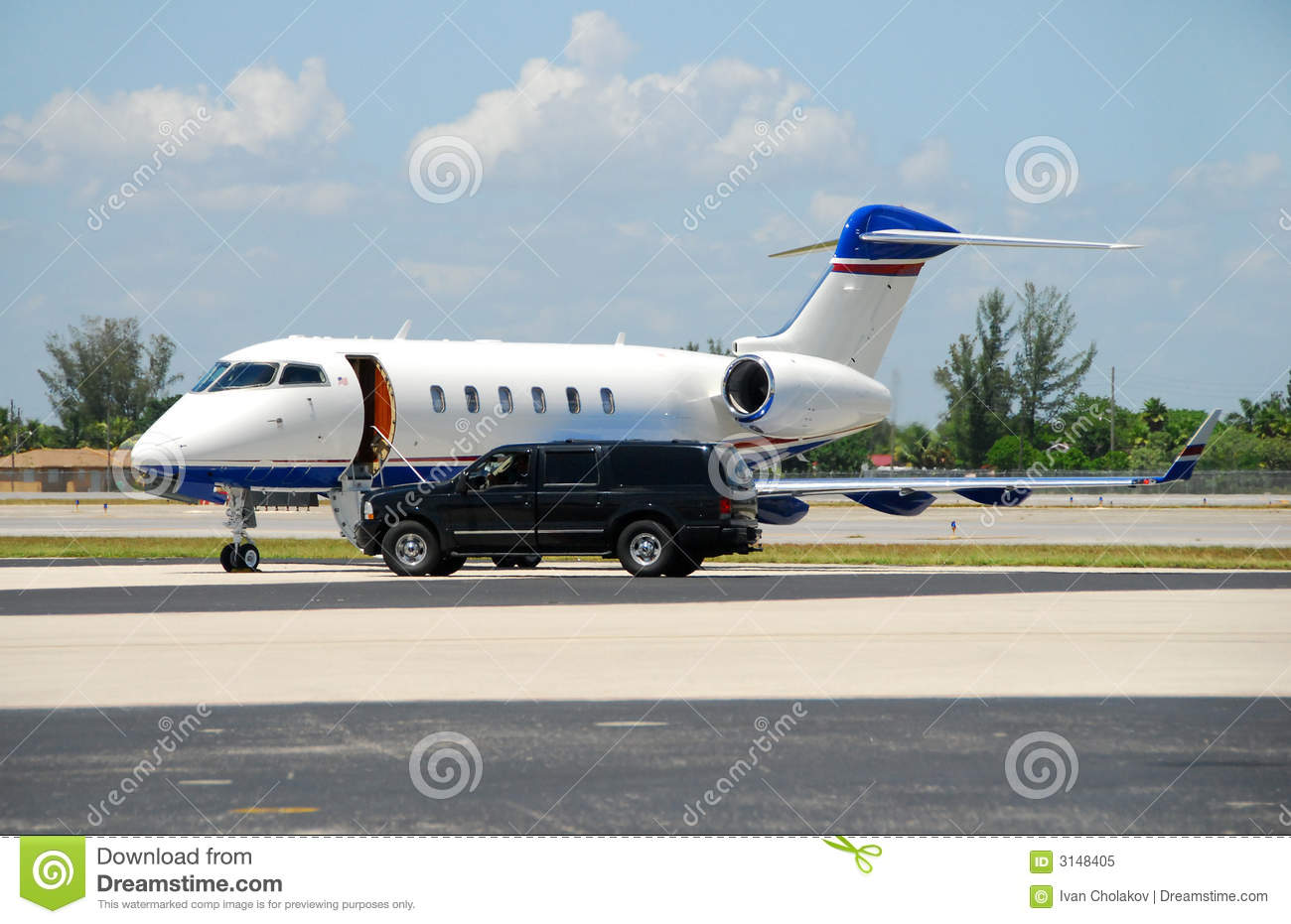 Private jet awaiting passenger