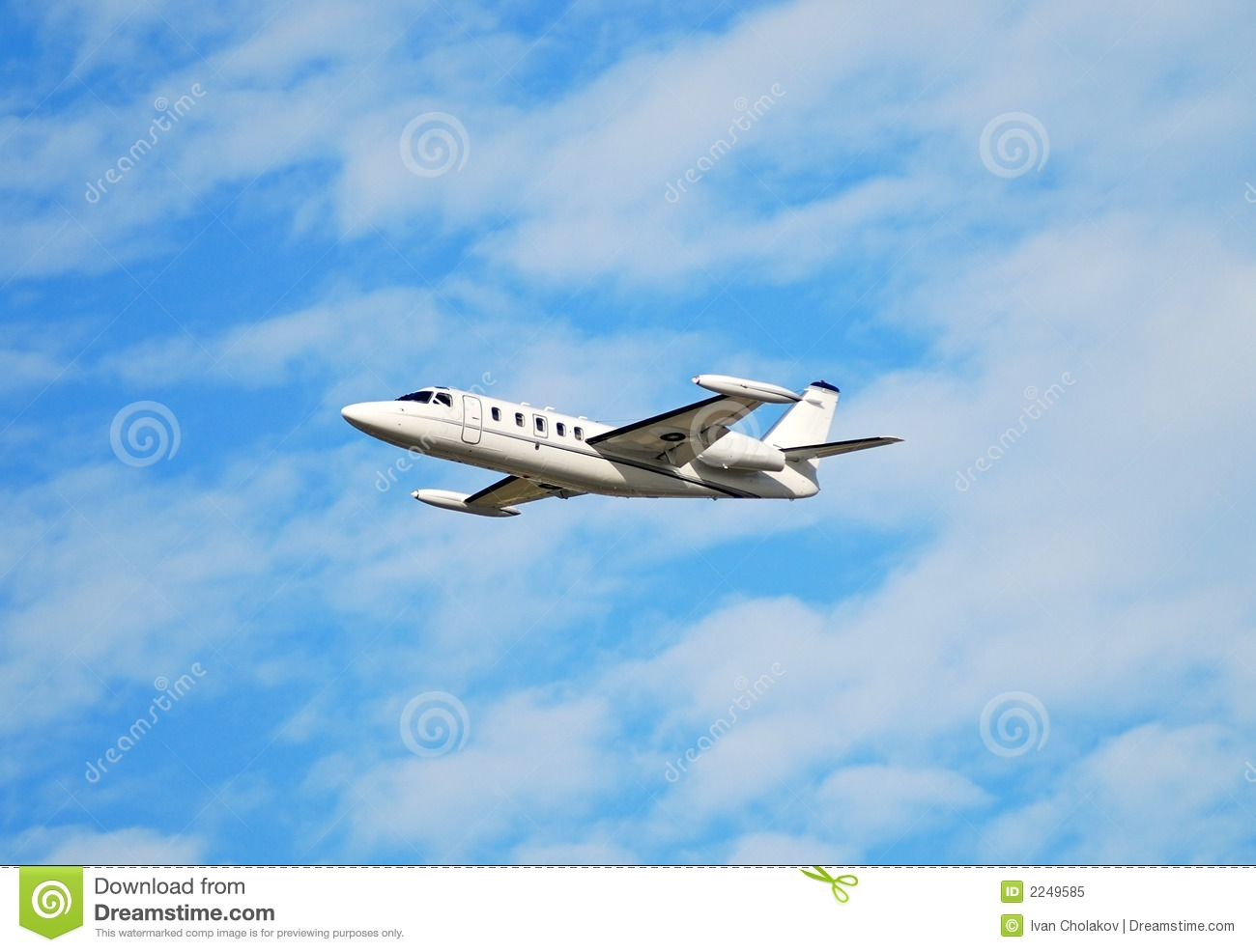 Private Jet In Flight Royalty Free Stock Photo  Image 2249585